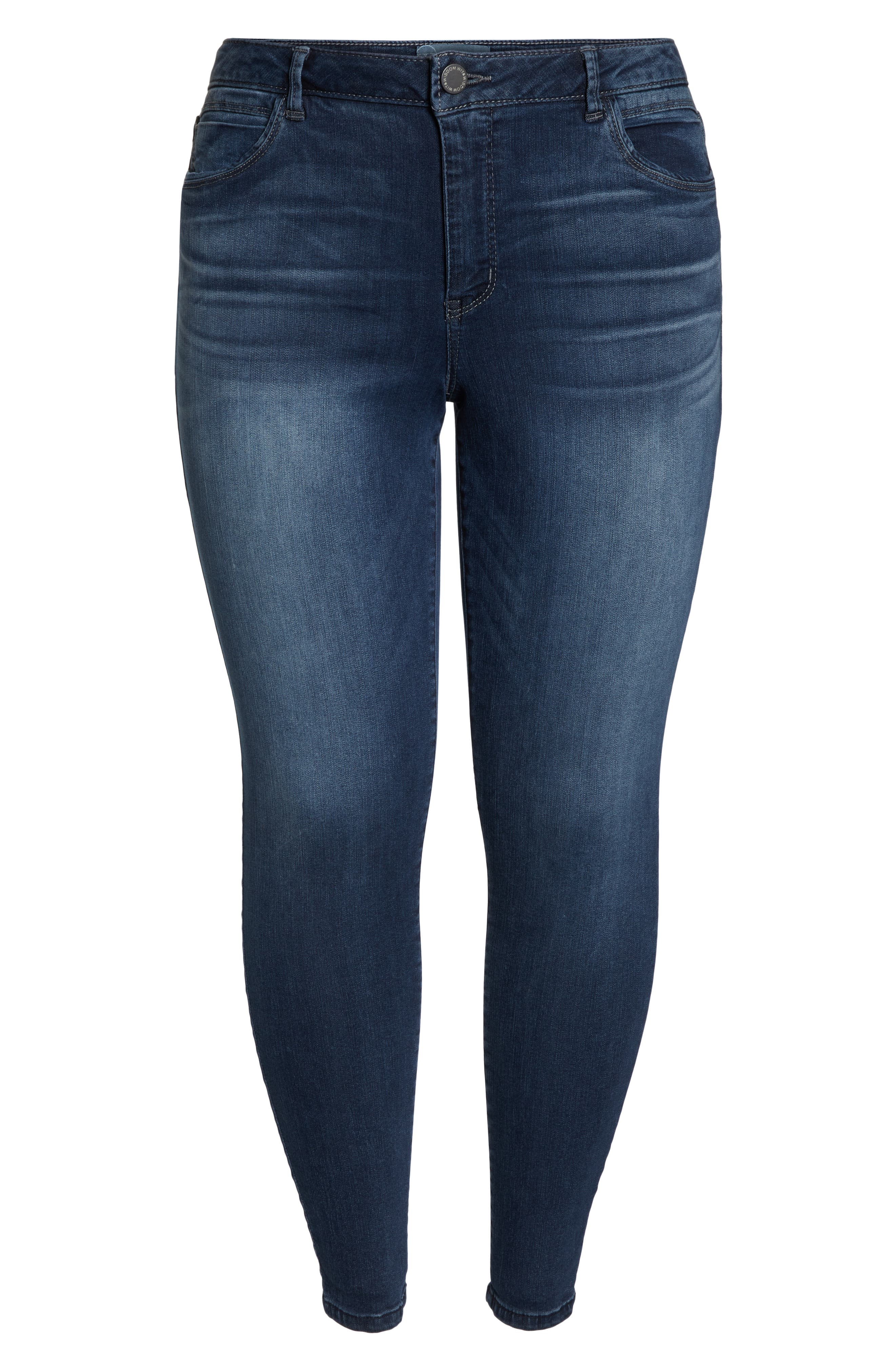 WIT & WISDOM, Contemporary Skinny Jeans, Alternate thumbnail 12, color, 402