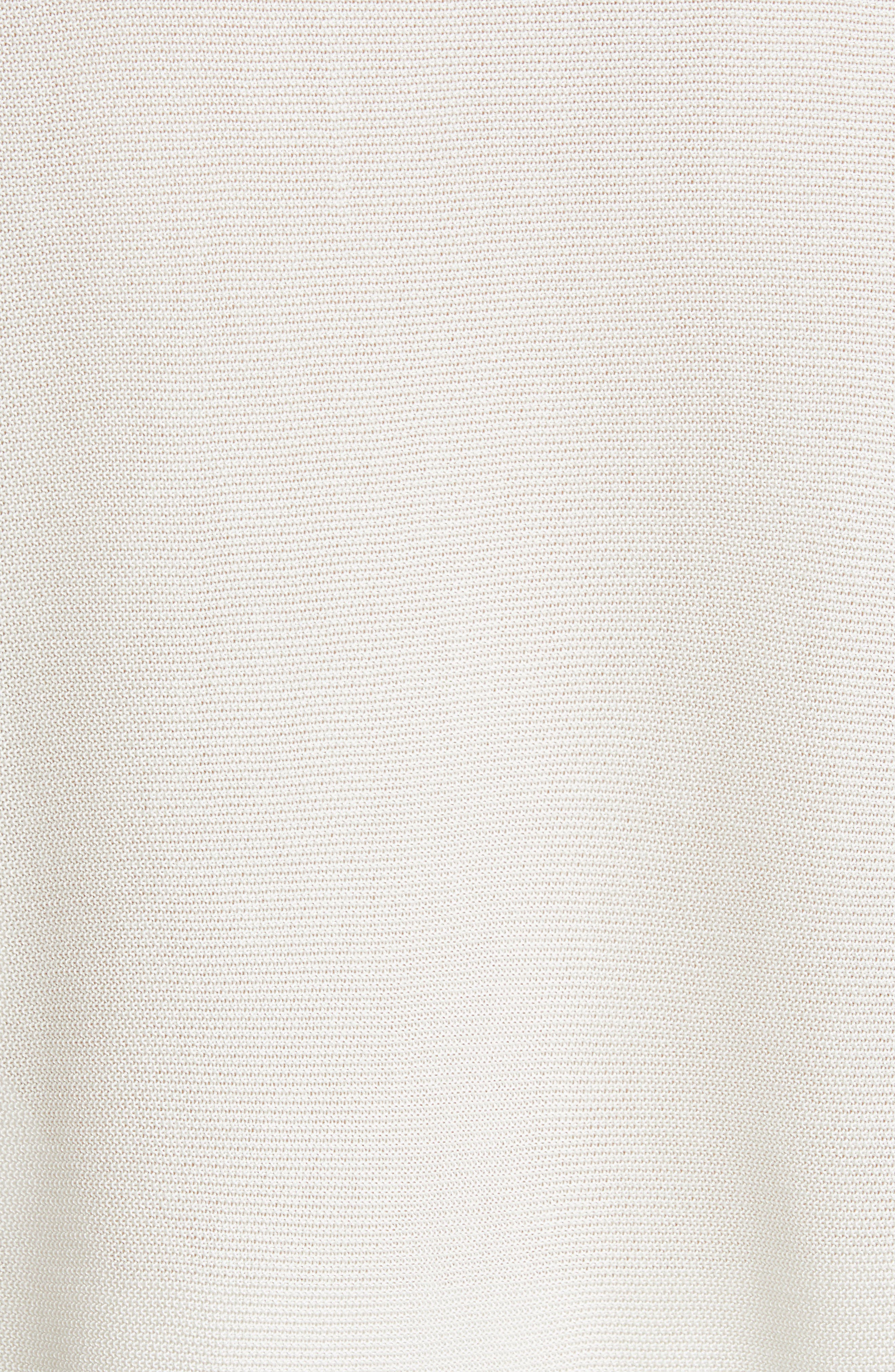 EILEEN FISHER, Elbow Sleeve Top, Alternate thumbnail 5, color, 100