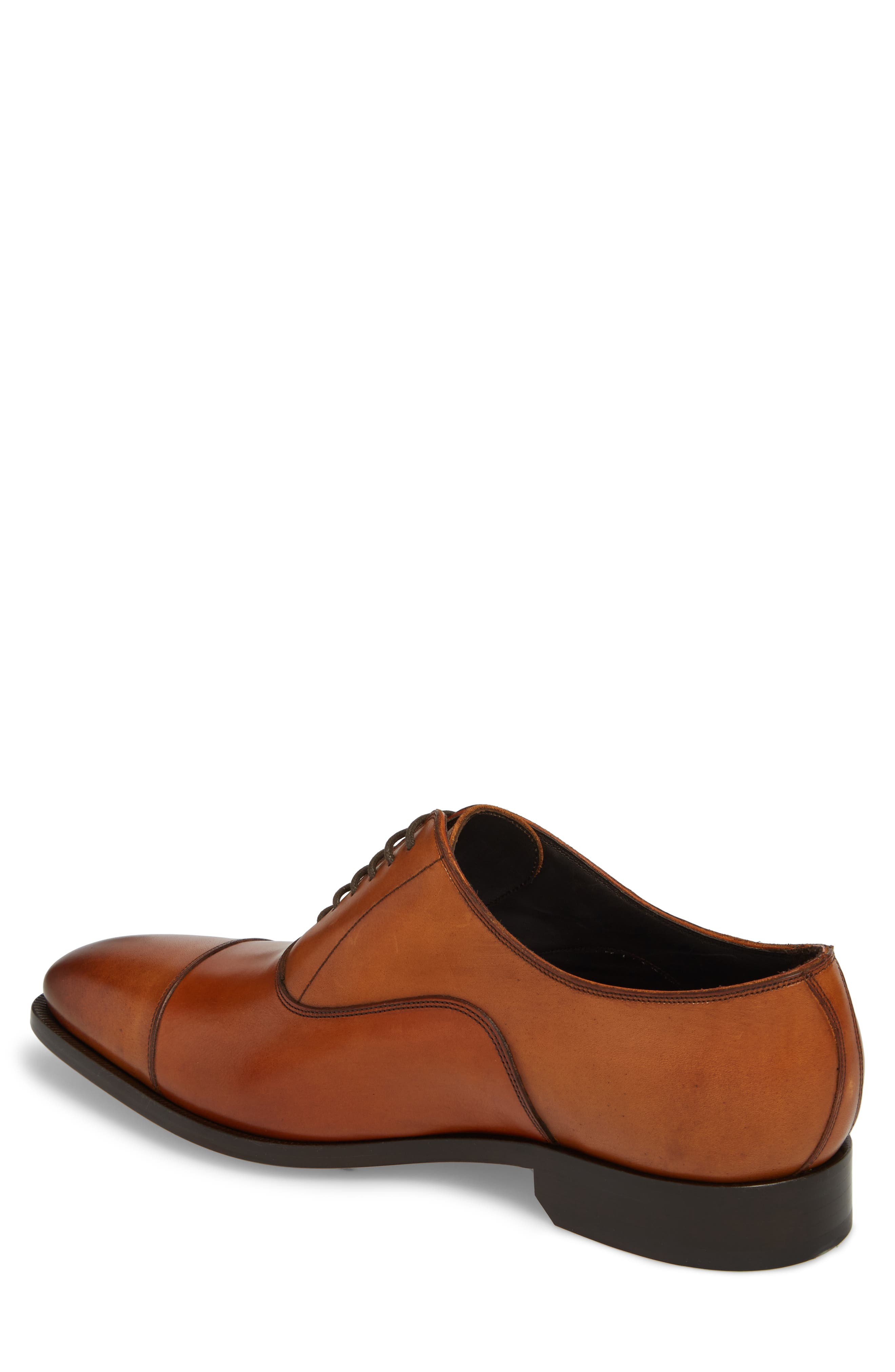 TO BOOT NEW YORK, Knoll Cap Toe Oxford, Alternate thumbnail 2, color, COGNAC LEATHER