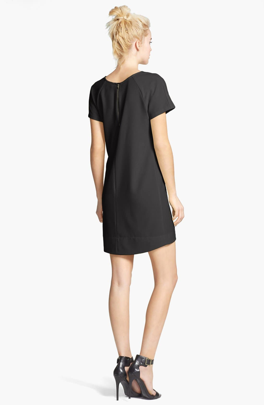 WAYF, Crepe Shift Dress, Alternate thumbnail 2, color, 001