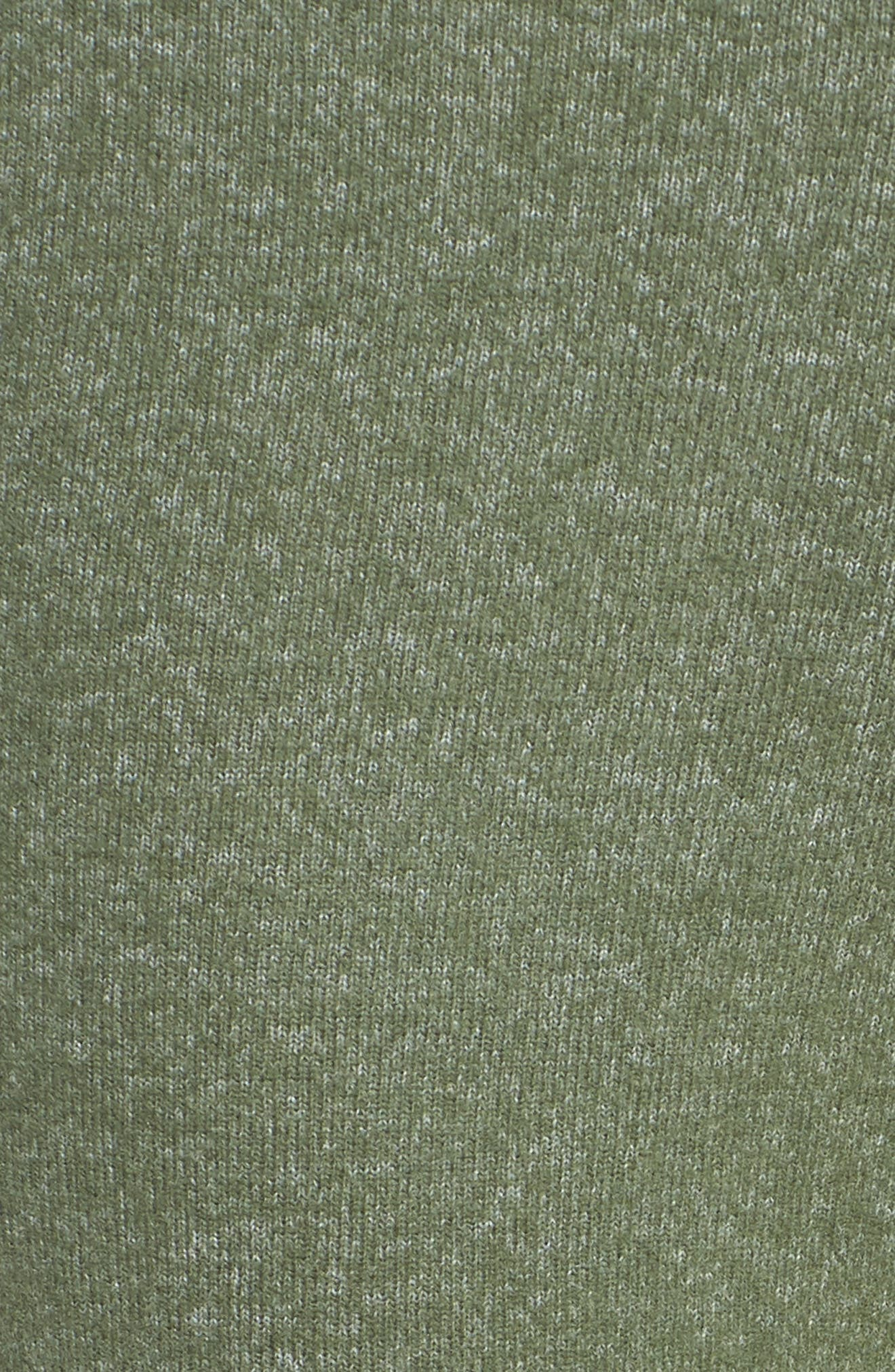 MAKE + MODEL, Best Boyfriend Brushed Hacci Lounge Pants, Alternate thumbnail 5, color, GREEN THYME