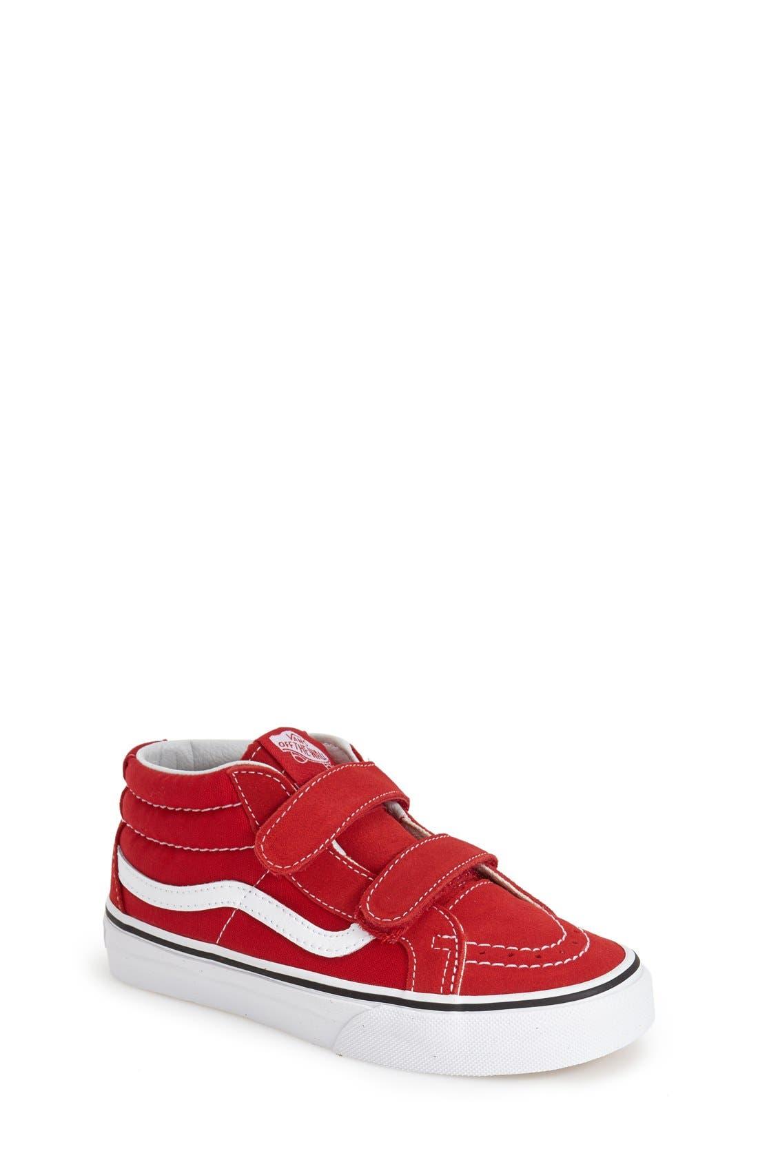 VANS, 'Sk8-Hi Reissue V' Sneaker, Main thumbnail 1, color, FORMULA ONE/ TRUE WHITE