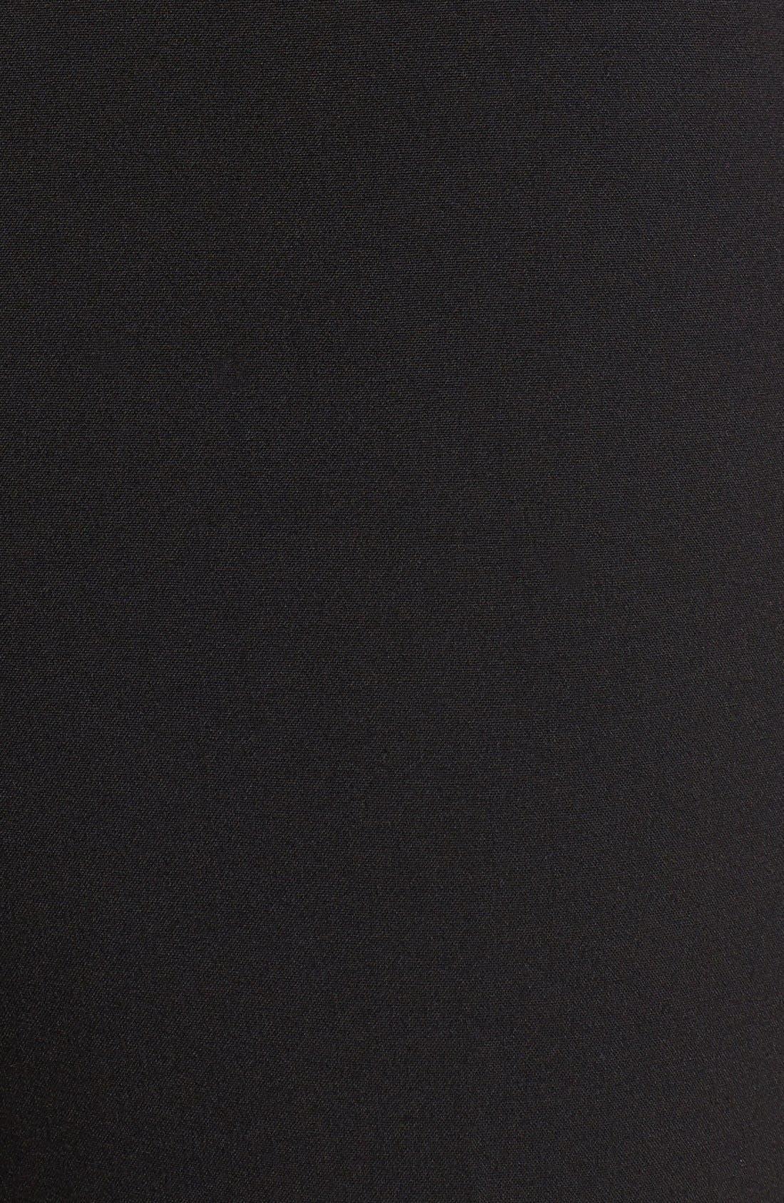 ANNE KLEIN, Slim Suit Pants, Alternate thumbnail 4, color, 001