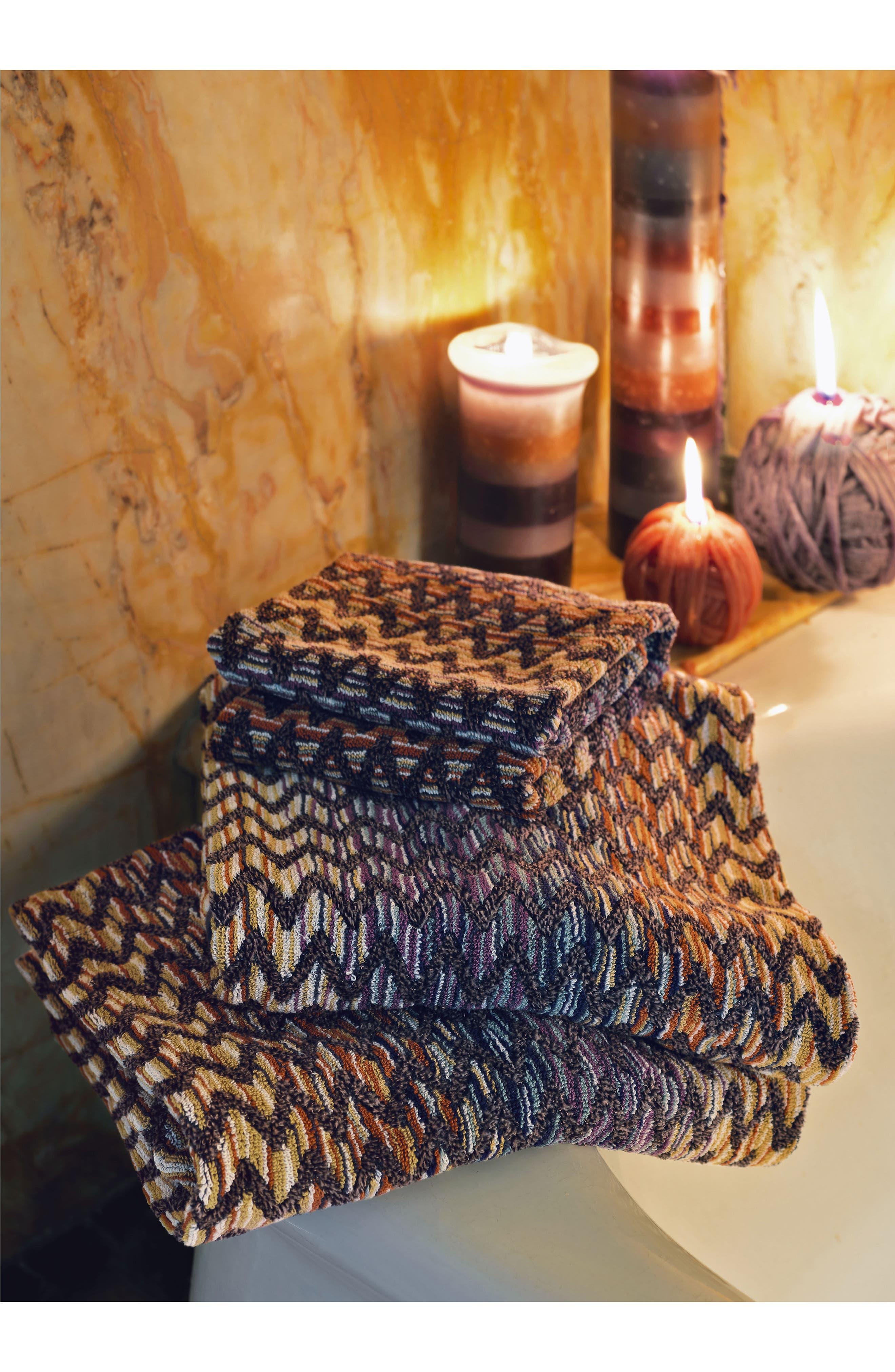 MISSONI, Stephen Bath Towel, Alternate thumbnail 2, color, MULTI COLOR
