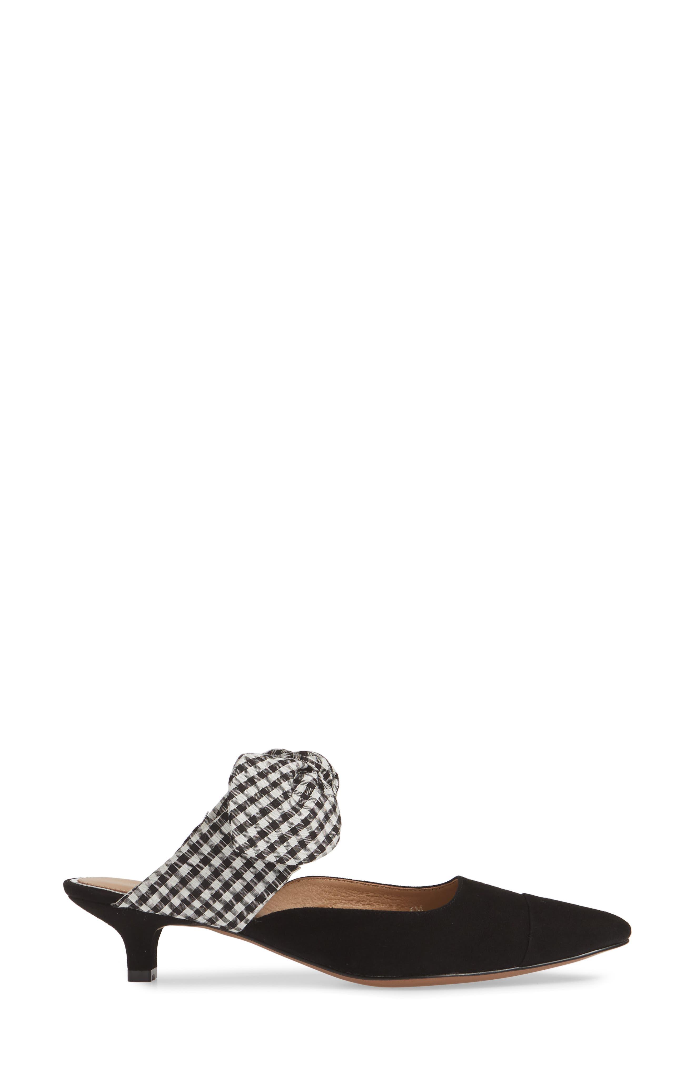 LINEA PAOLO, Crissy Pump, Alternate thumbnail 3, color, BLACK/ BLACK SUEDE
