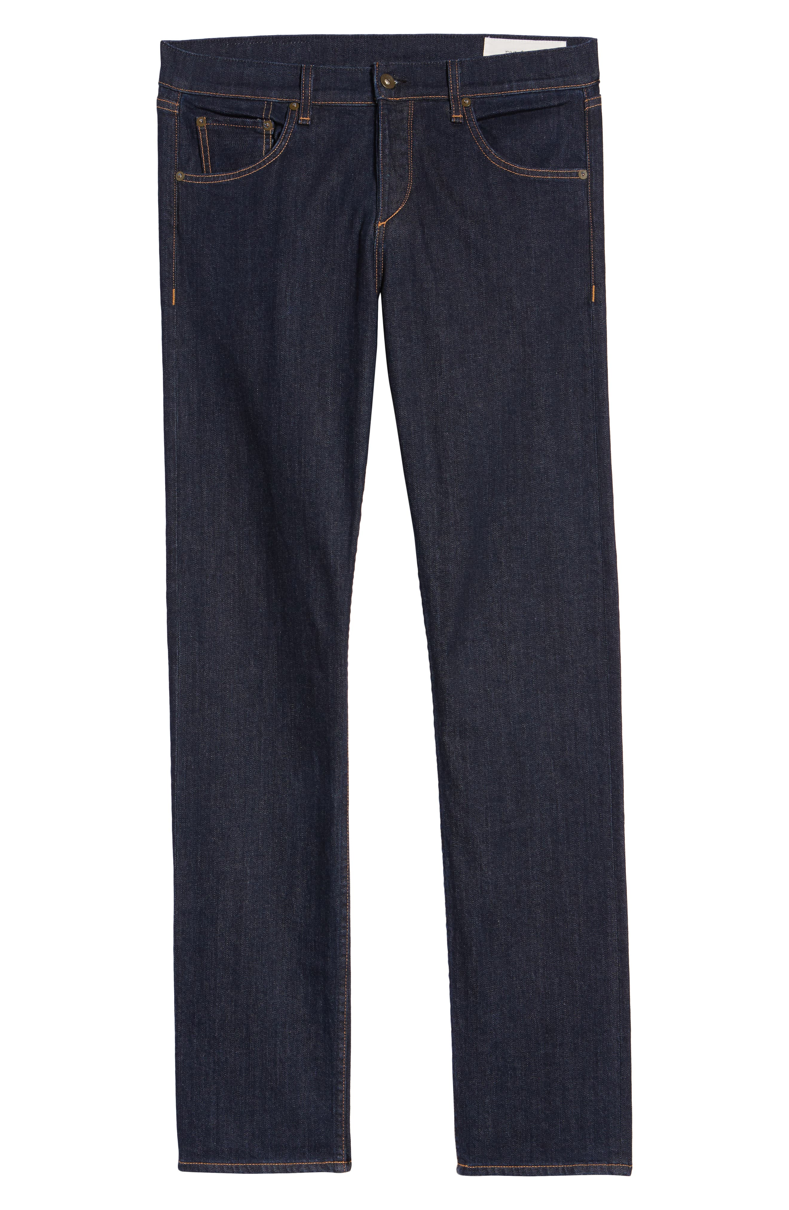RAG & BONE, Standard Issue Fit 3 Slim Straight Leg Jeans, Alternate thumbnail 7, color, HERITAGE