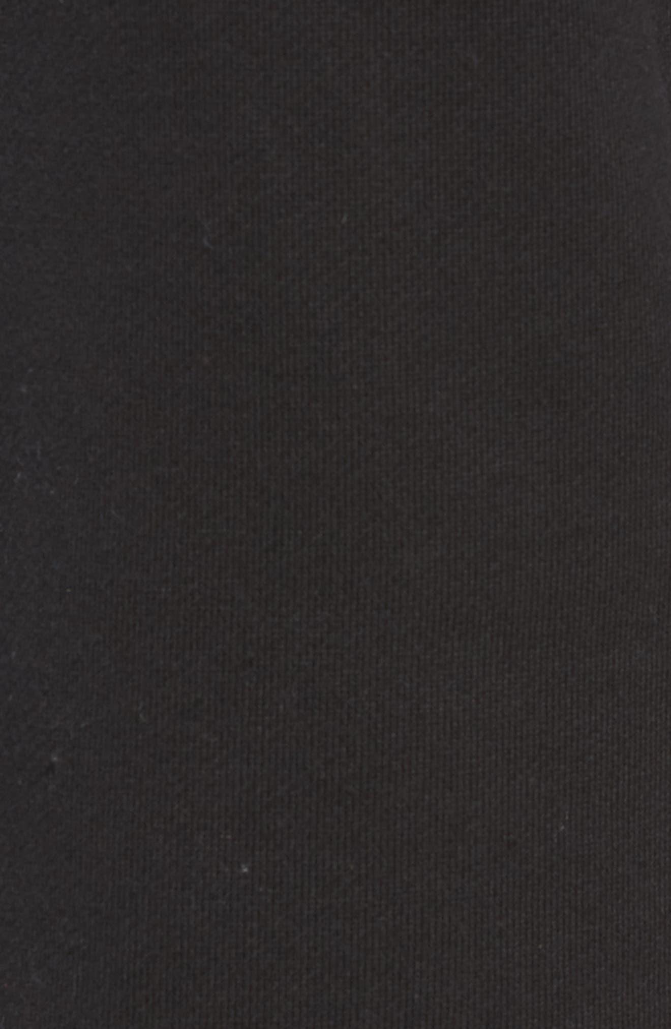 ADIDAS ORIGINALS, FT OTLN Athletic Shorts, Alternate thumbnail 5, color, BLACK/ WHITE