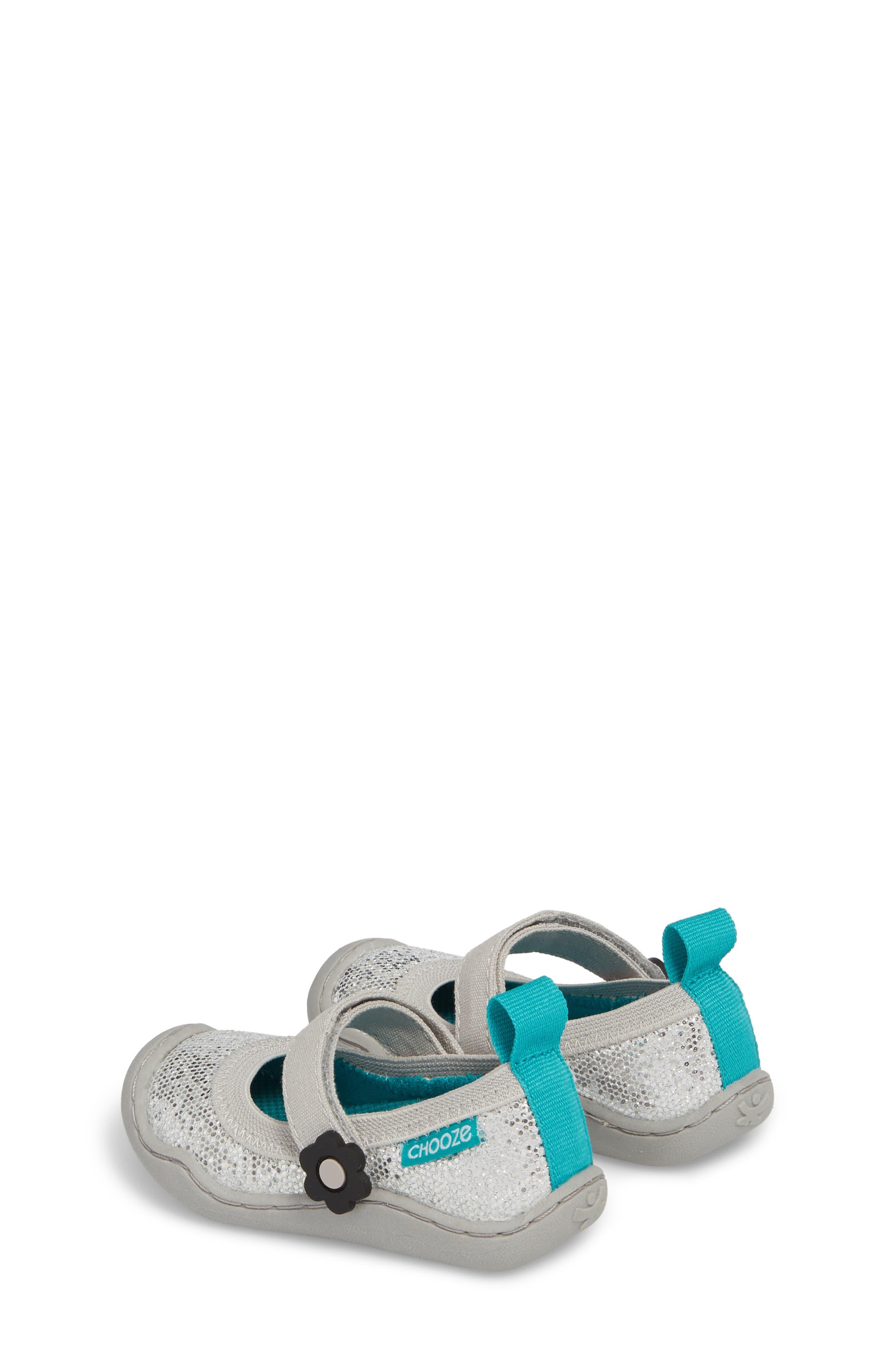 CHOOZE, Steady Shimmer Mary Jane Sneaker, Alternate thumbnail 3, color, GLOW PLATINUM
