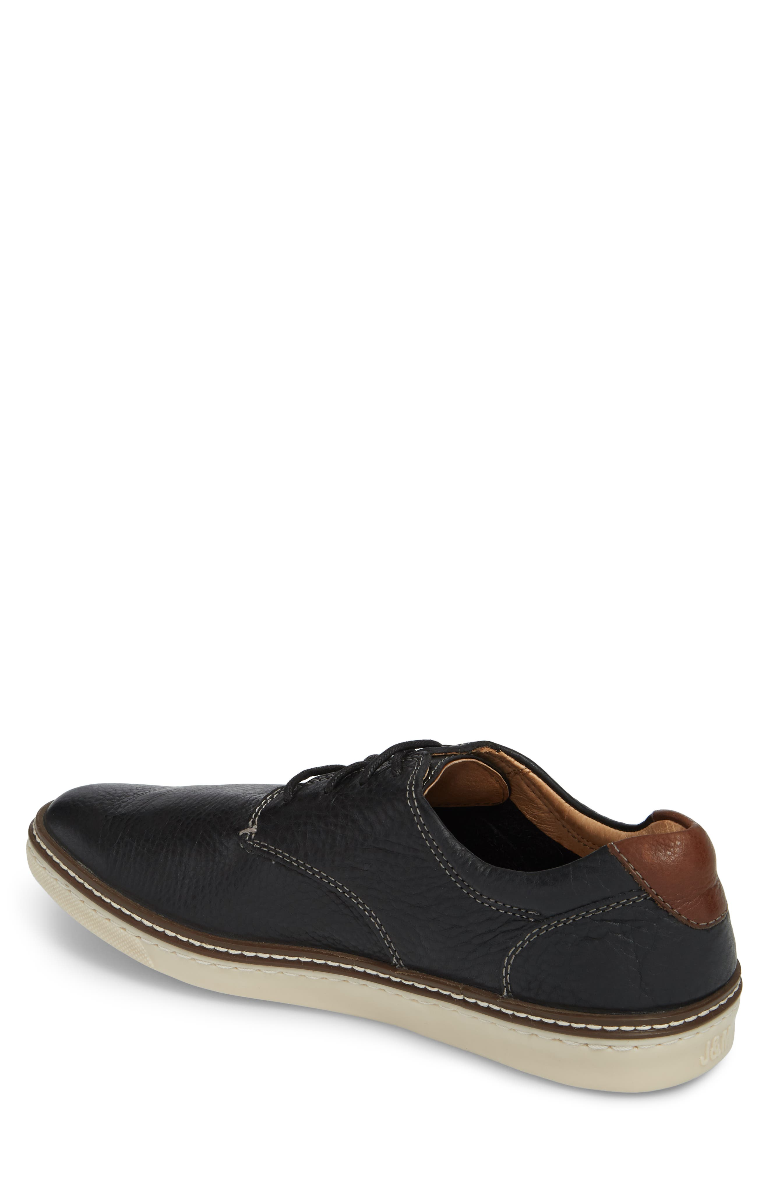 JOHNSTON & MURPHY, McGuffey Derby Sneaker, Alternate thumbnail 2, color, BLACK LEATHER