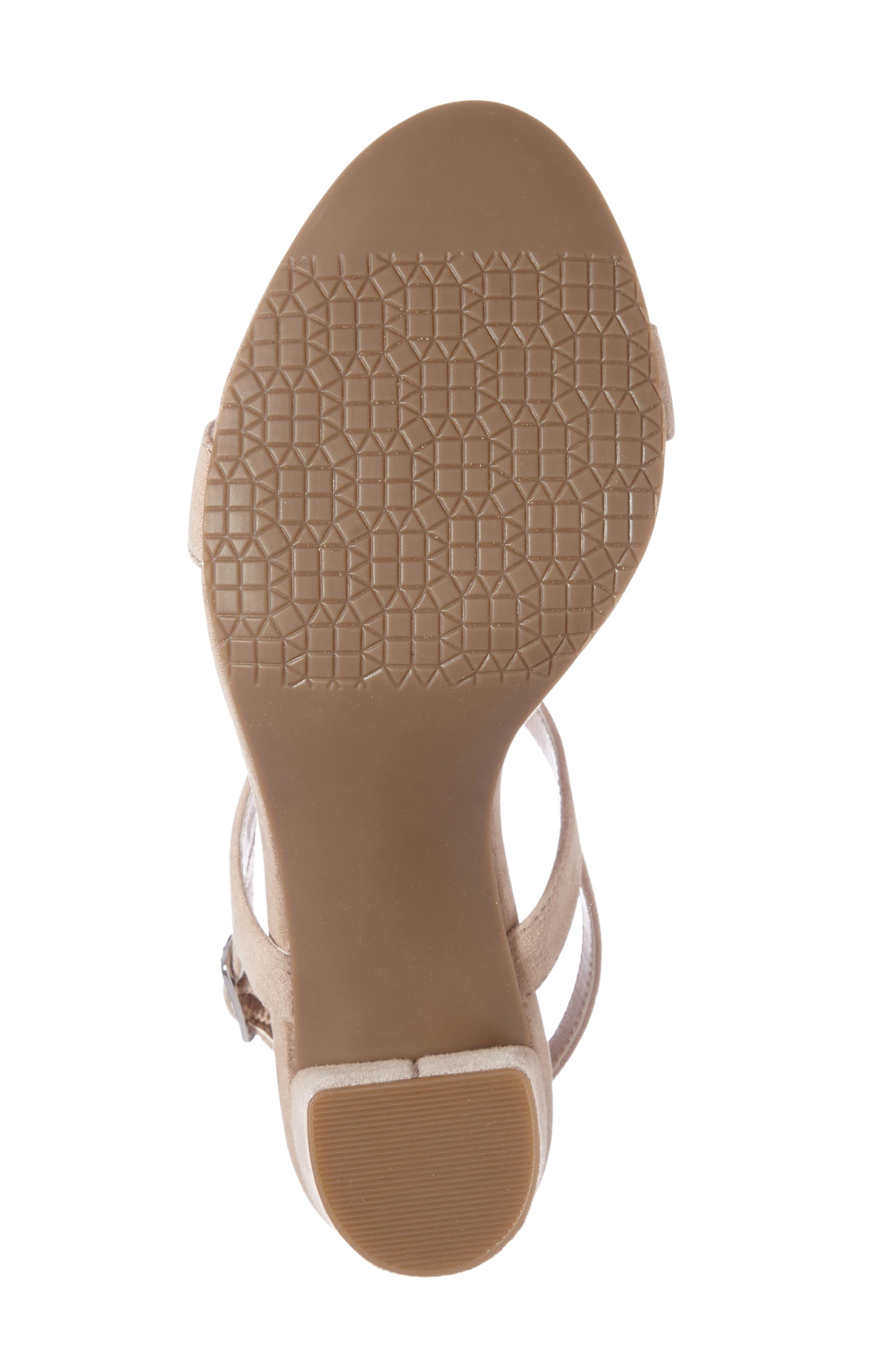 BP., Lula Block Heel Slingback Sandal, Alternate thumbnail 4, color, BLUSH SUEDE