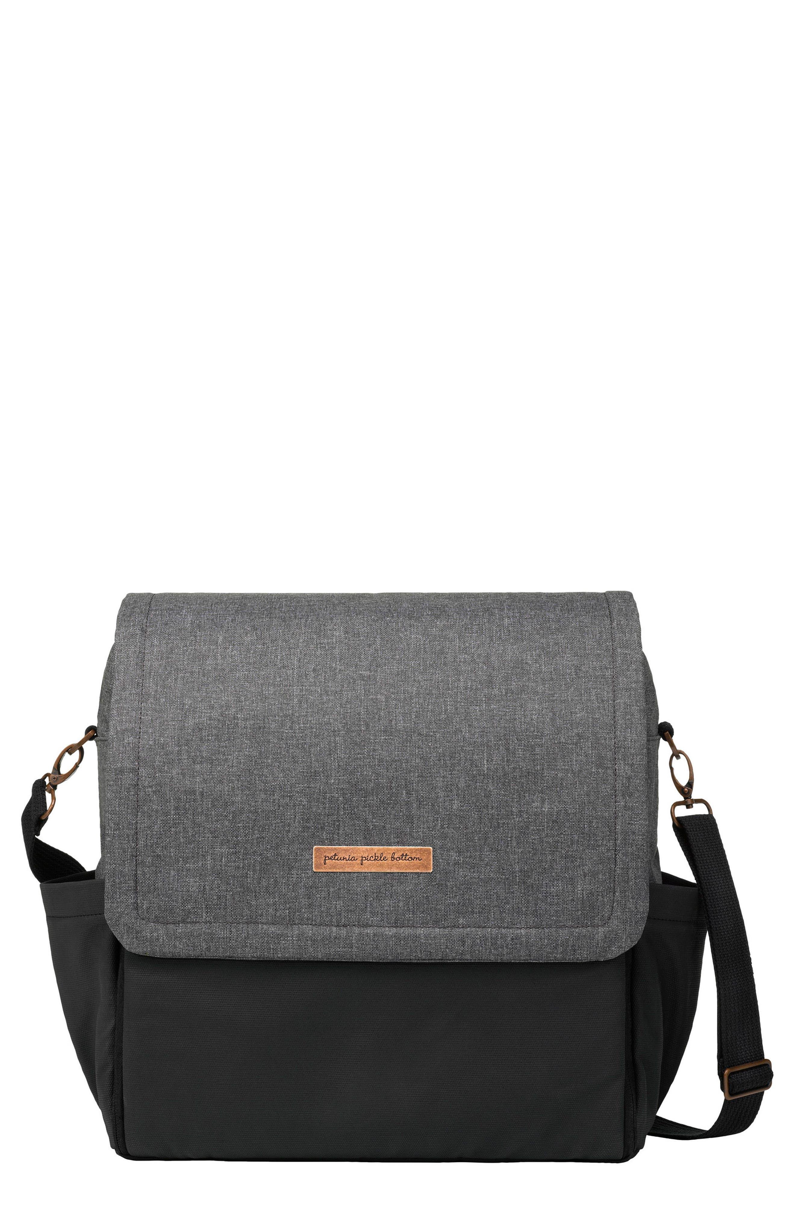 PETUNIA PICKLE BOTTOM, Boxy Backpack Diaper Bag, Main thumbnail 1, color, GRAPHITE/ BLACK
