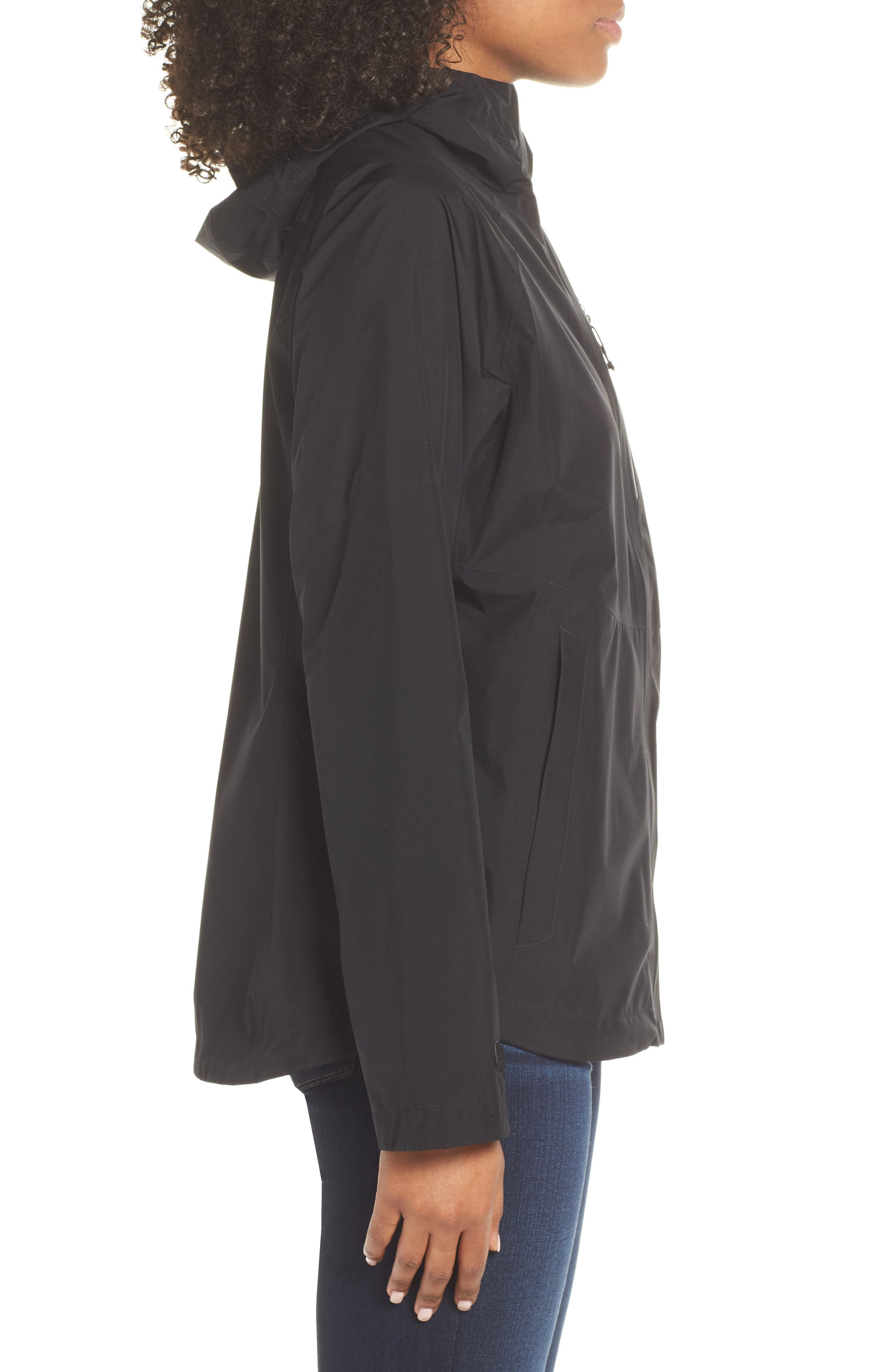 THE NORTH FACE, Dryzzle Hooded Rain Jacket, Alternate thumbnail 4, color, TNF BLACK