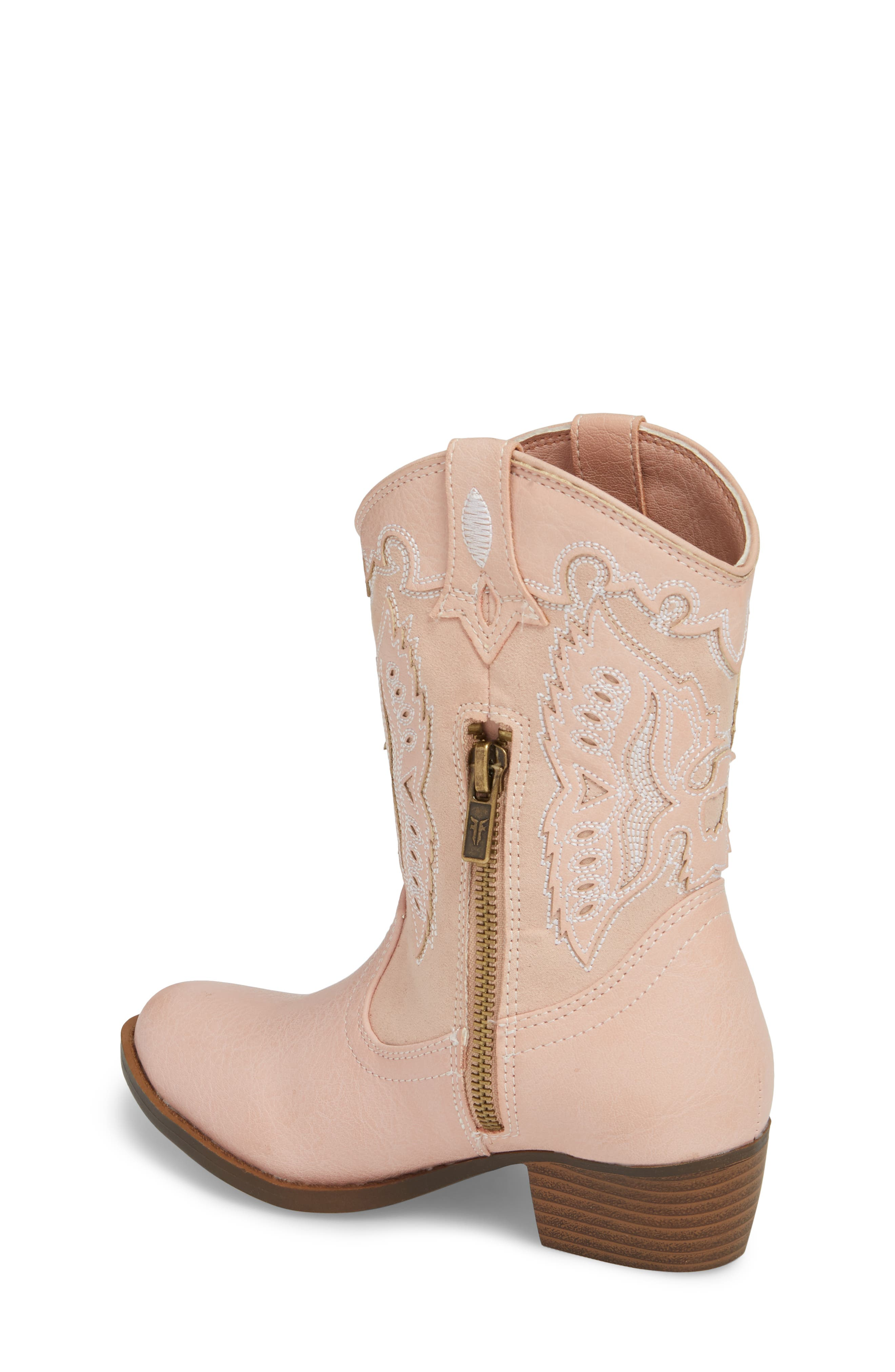 FRYE, Carson Firebird Cowgirl Boot, Alternate thumbnail 2, color, PINK