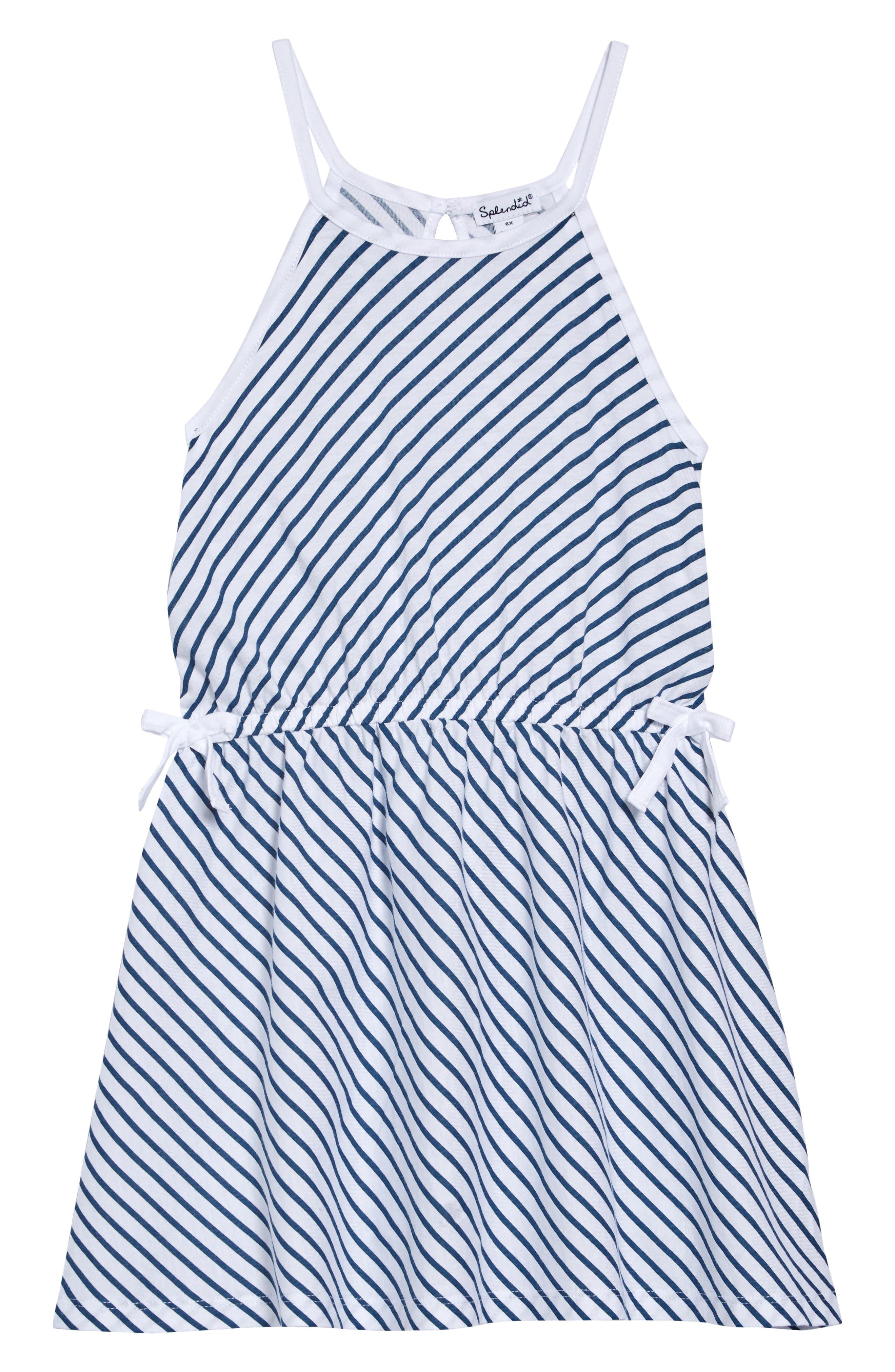 Toddler Girls Splendid Diagonal Stripe Dress Size 2T  White