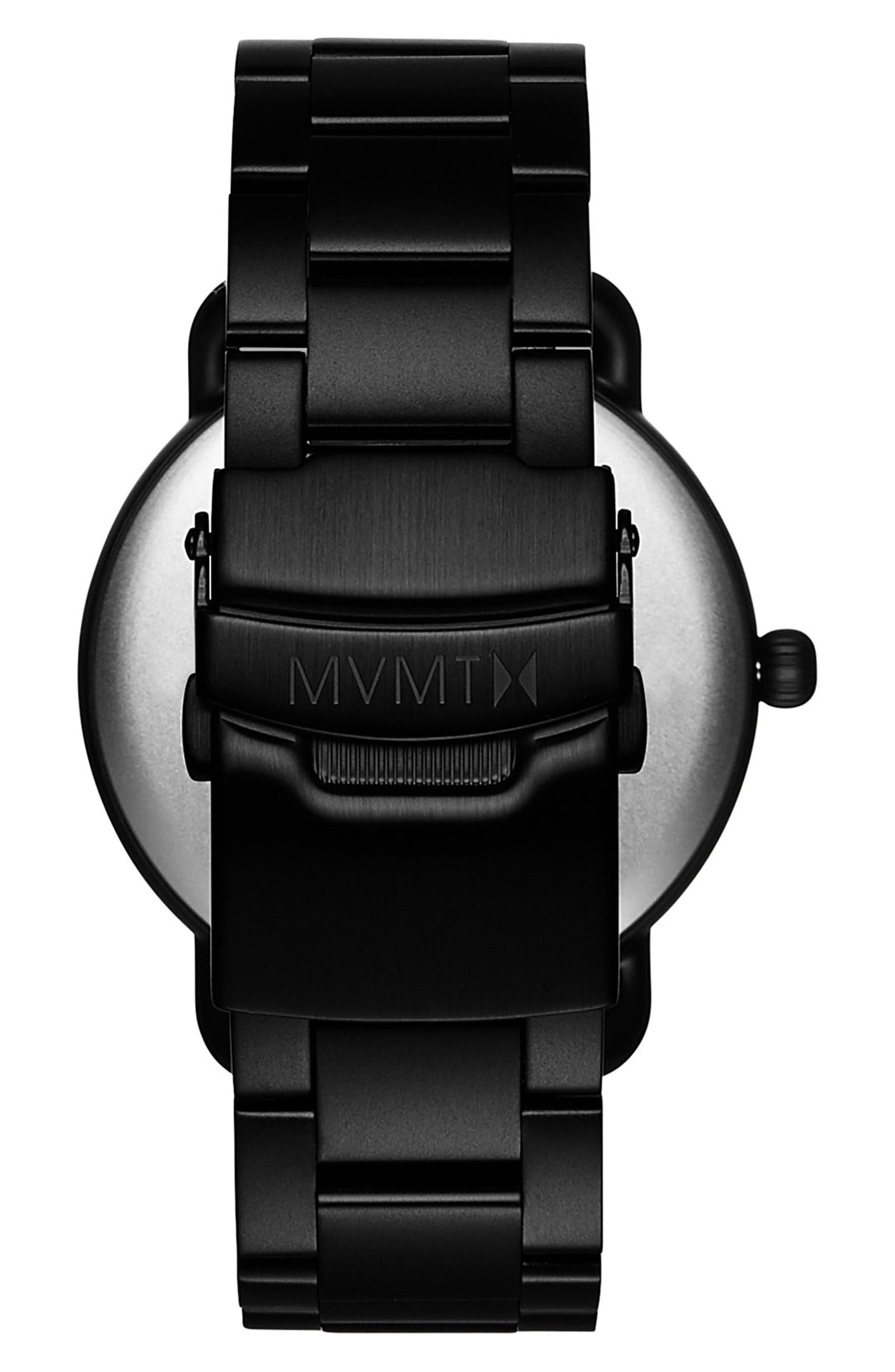 MVMT, Revolver Avalon Bracelet Watch, 41mm, Alternate thumbnail 2, color, BLACK/ BLACK
