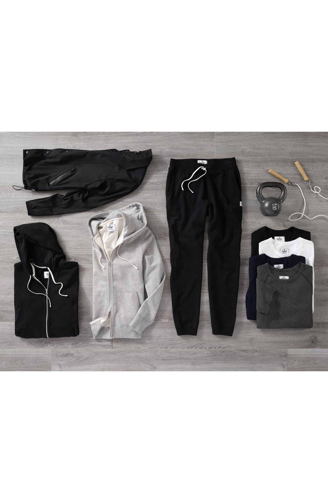 REIGNING CHAMP, Slim Fit Sweatpants, Alternate thumbnail 2, color, BLACK