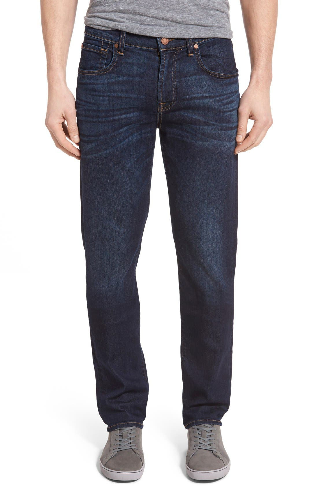 7 FOR ALL MANKIND<SUP>®</SUP>, The Straight Airweft Slim Straight Leg Jeans, Main thumbnail 1, color, 400