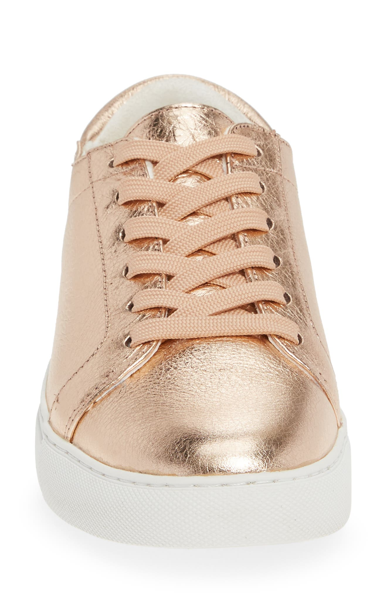 KENNETH COLE NEW YORK, 'Kam' Sneaker, Alternate thumbnail 4, color, ROSE GOLD LEATHER
