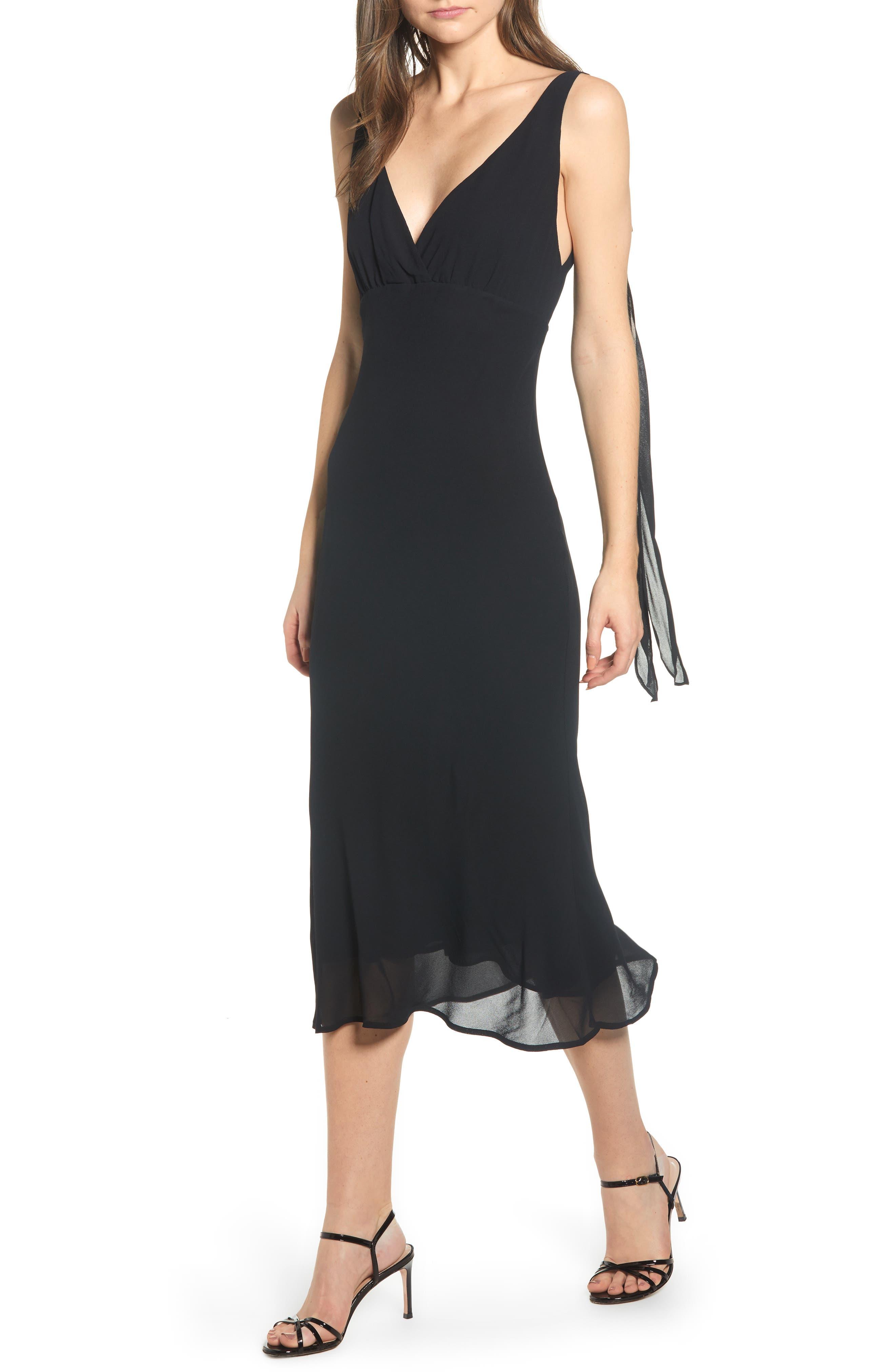 REFORMATION, Venezia Dress, Main thumbnail 1, color, BLACK