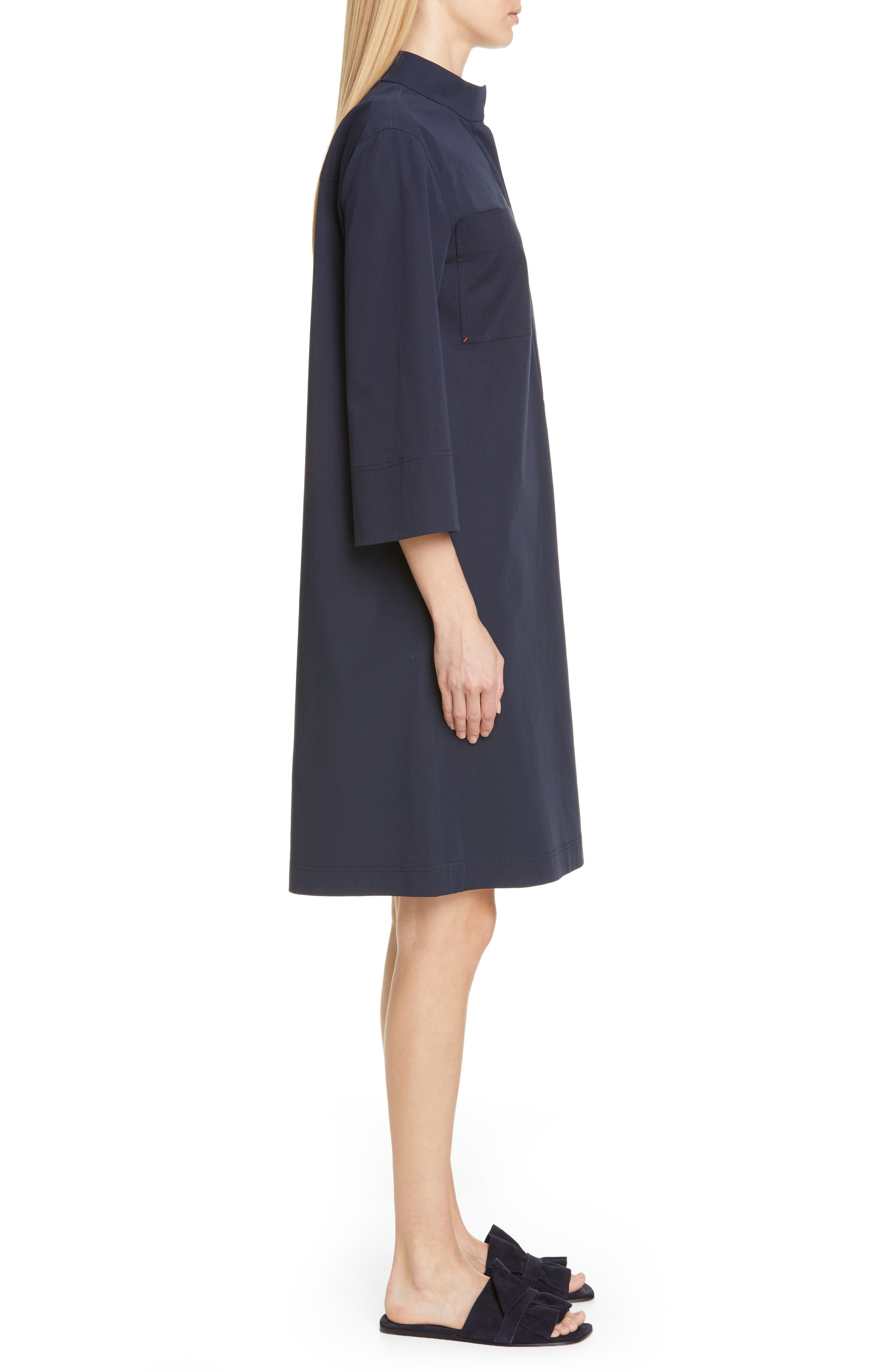 LAFAYETTE 148 NEW YORK, Mitchell Shift Dress, Alternate thumbnail 4, color, INK