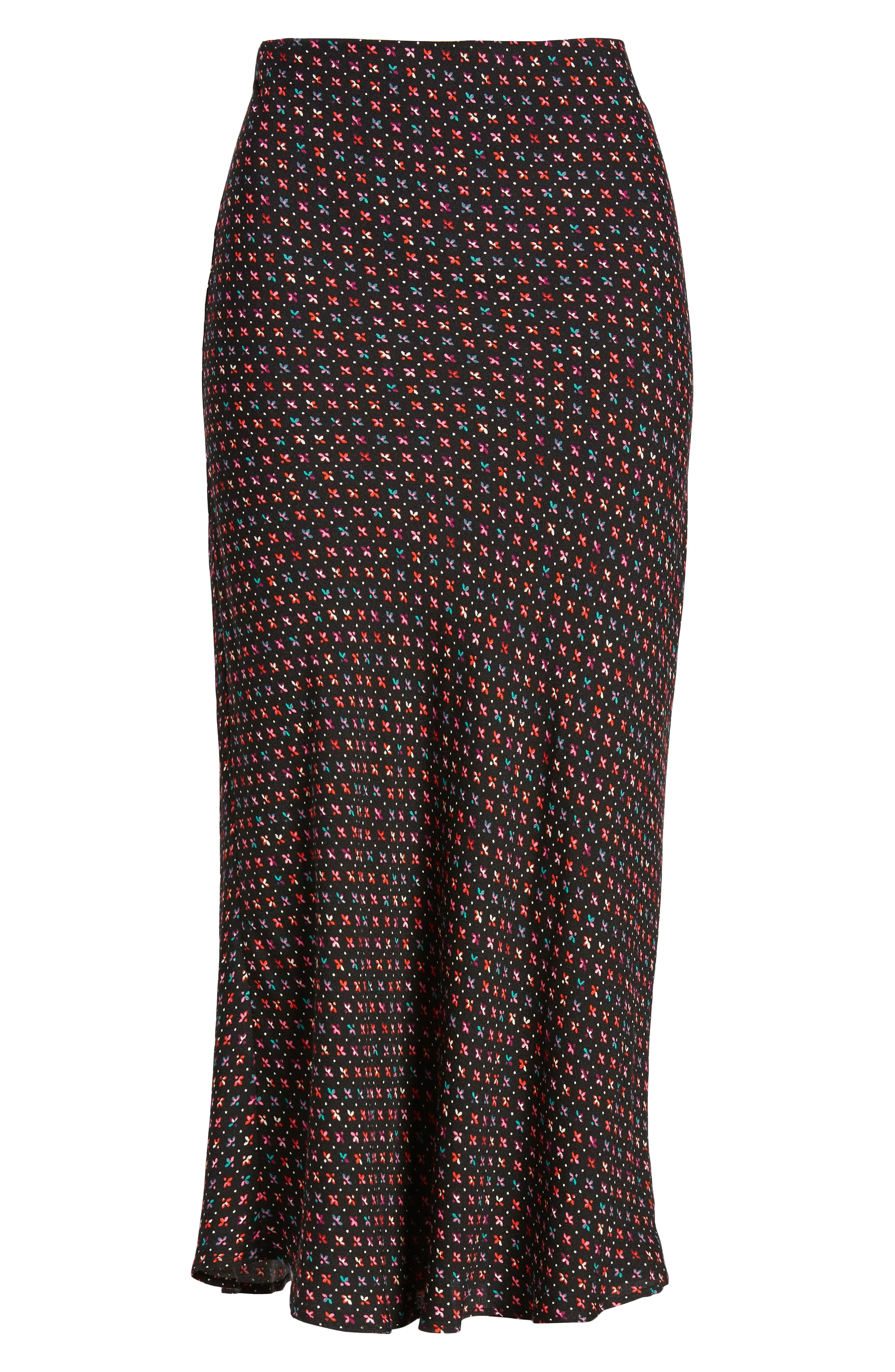 AFRM, Brynne Print Midi Skirt, Alternate thumbnail 6, color, 001
