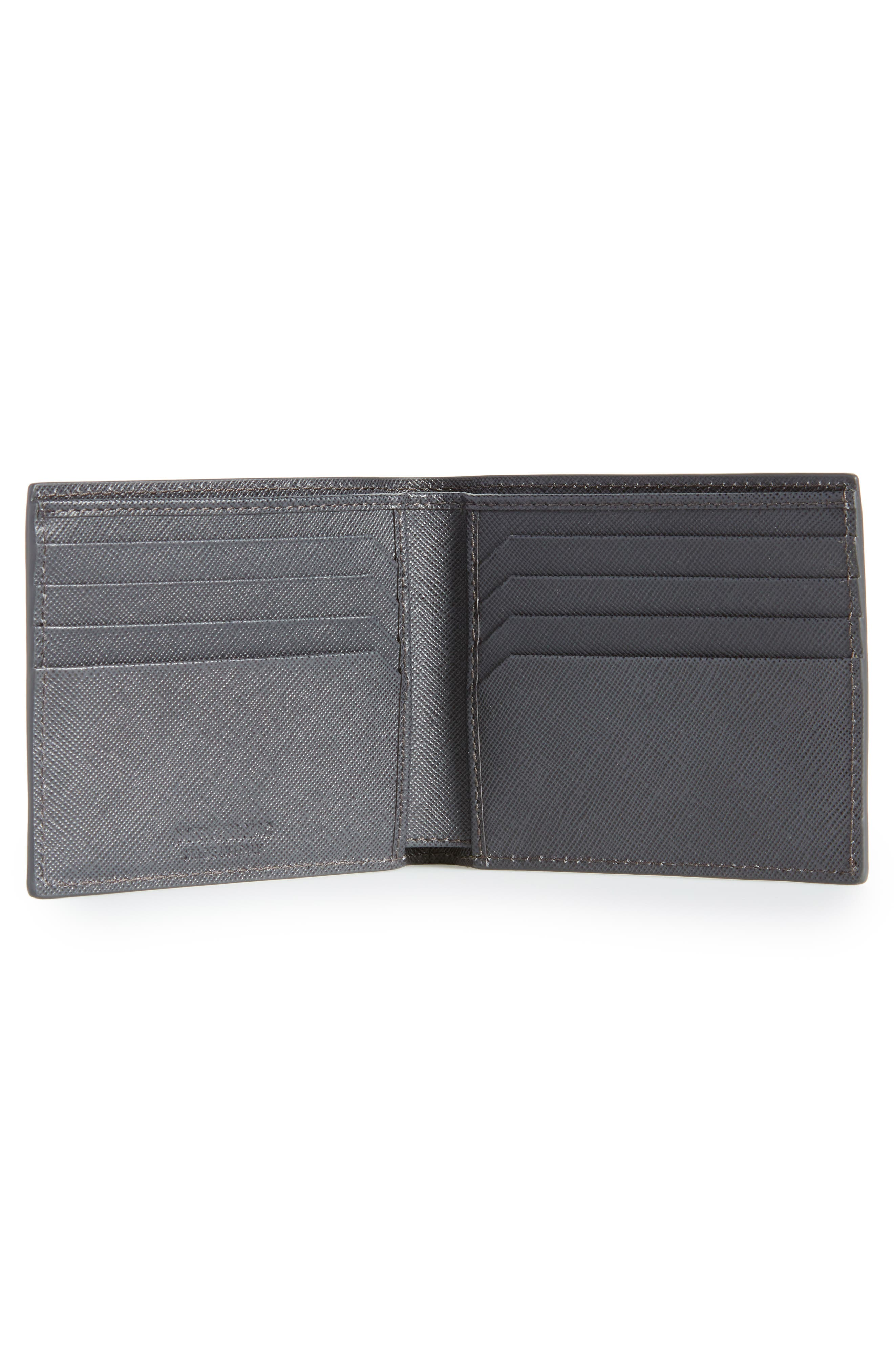 MONTBLANC, Sartorial Leather Bifold Wallet, Alternate thumbnail 2, color, 020