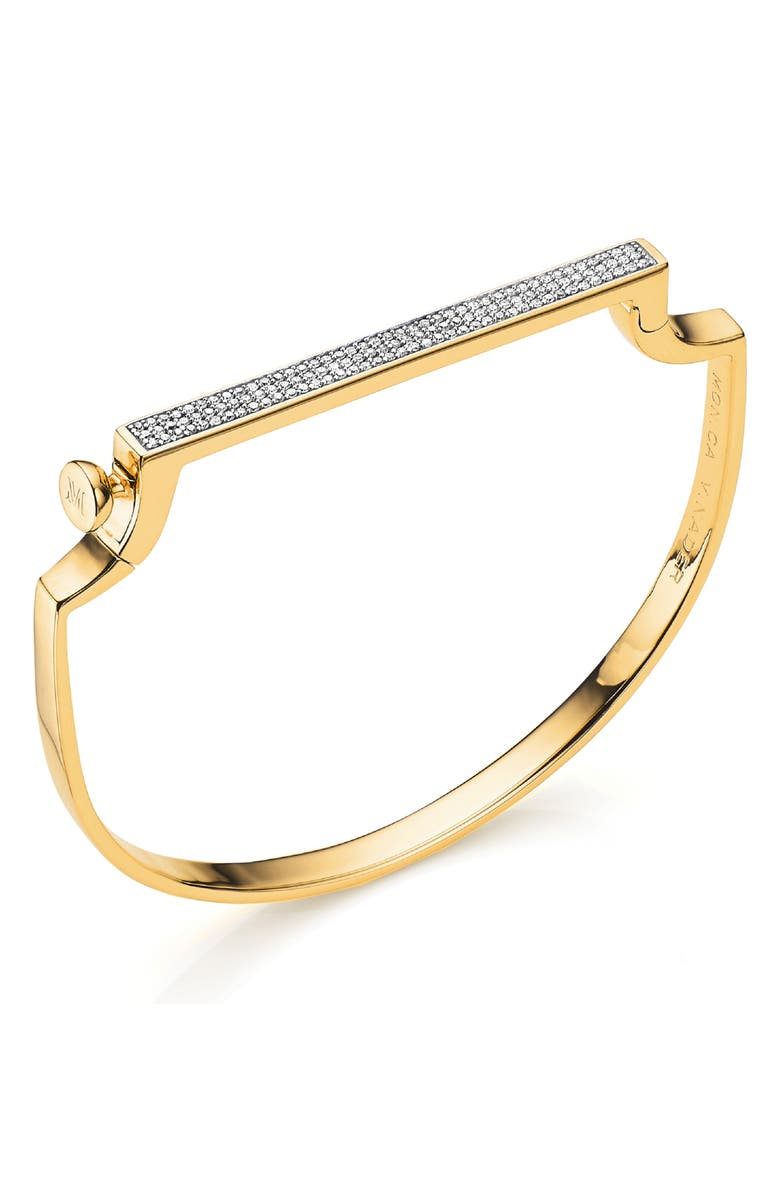 Monica Vinader Accessories ENGRAVABLE SIGNATURE THIN DIAMOND BANGLE