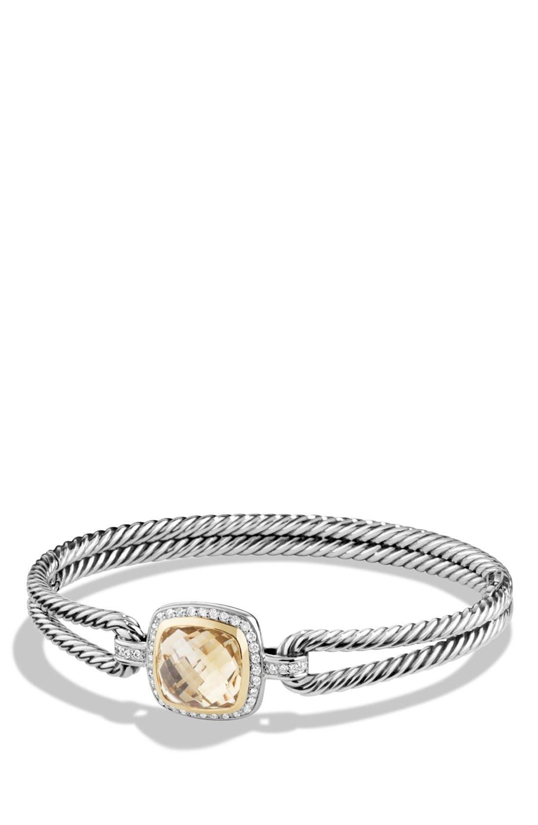 DAVID YURMAN 'Albion' Bracelet with Diamonds and 18K Gold, Main, color, CHAMPAGNE CITRINE