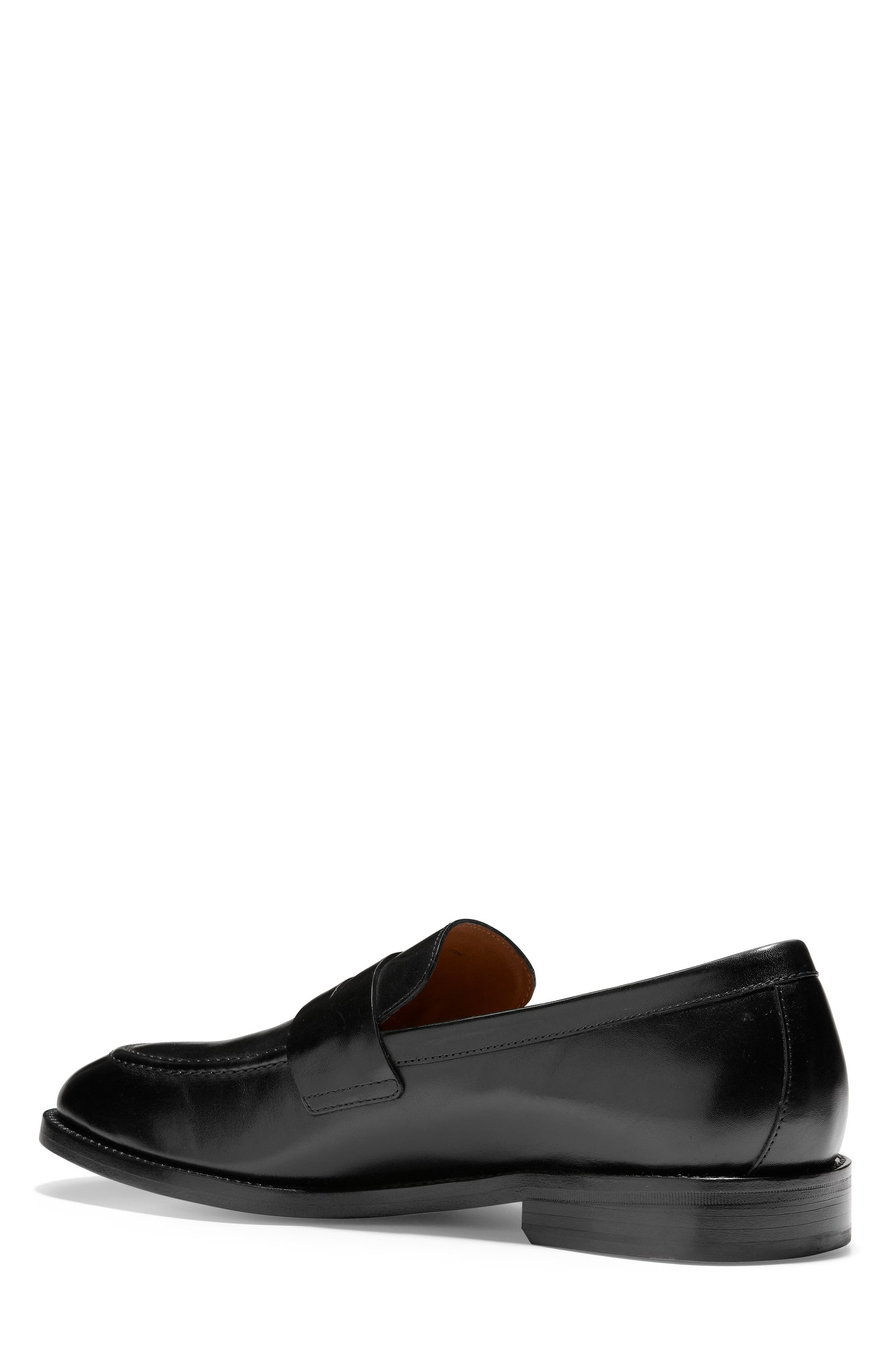 COLE HAAN, American Classics Kneeland Penny Loafer, Alternate thumbnail 2, color, BLACK LEATHER