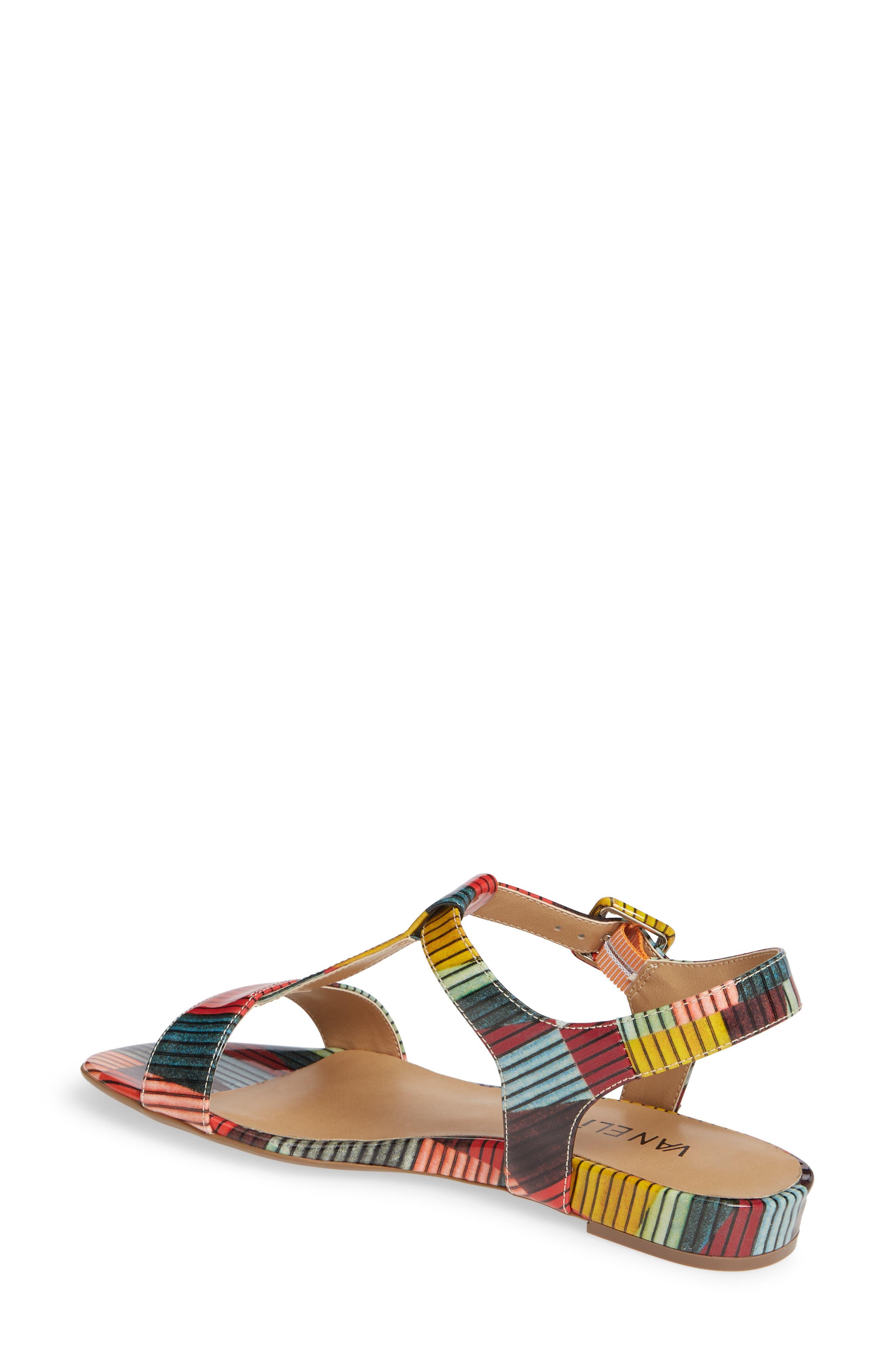 VANELI, Burlie T-Strap Sandal, Alternate thumbnail 2, color, MULTICOLOR PATENT LEATHER