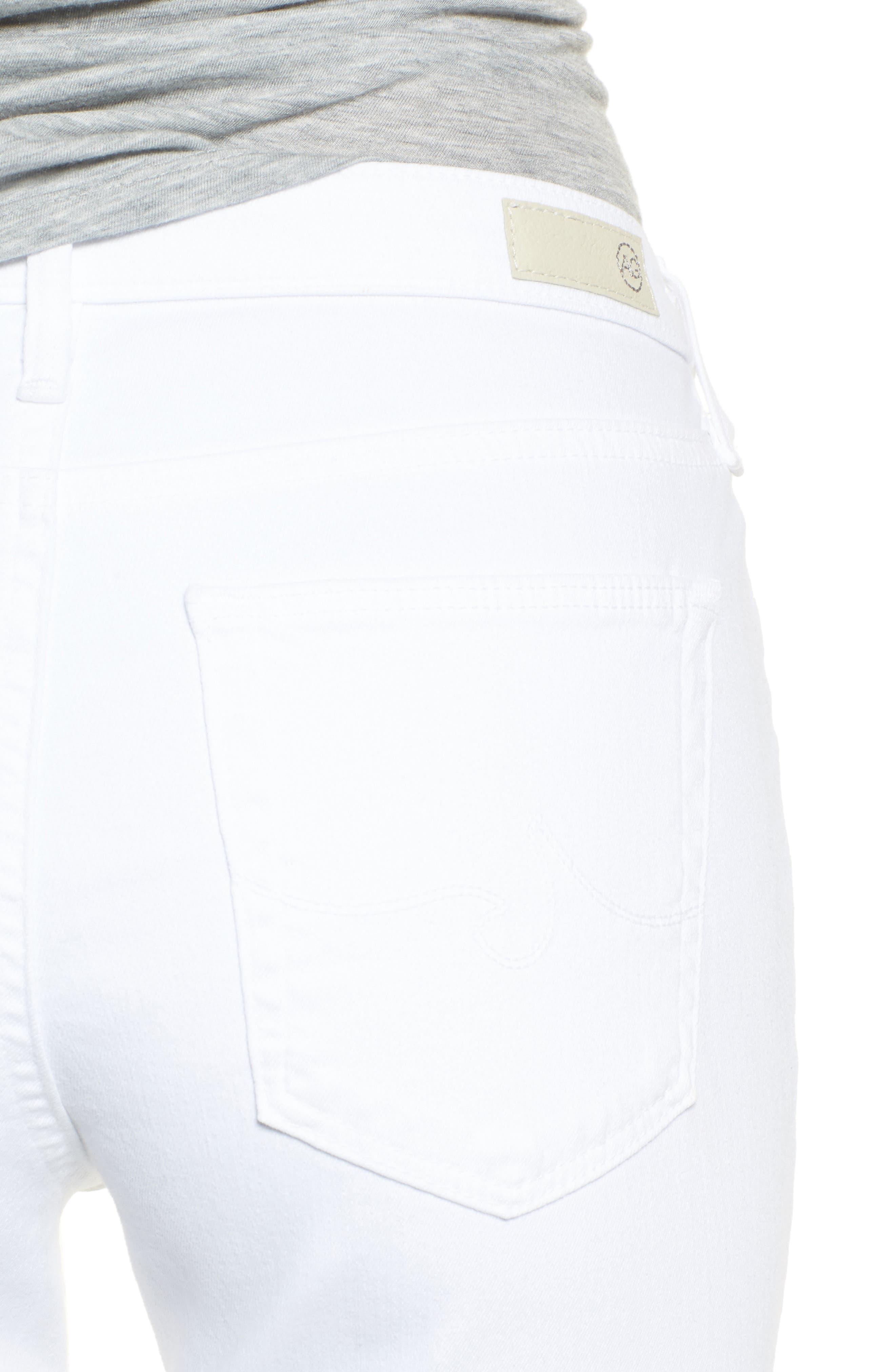 AG, Jodi High Waist Crop Jeans, Alternate thumbnail 5, color, WHITE