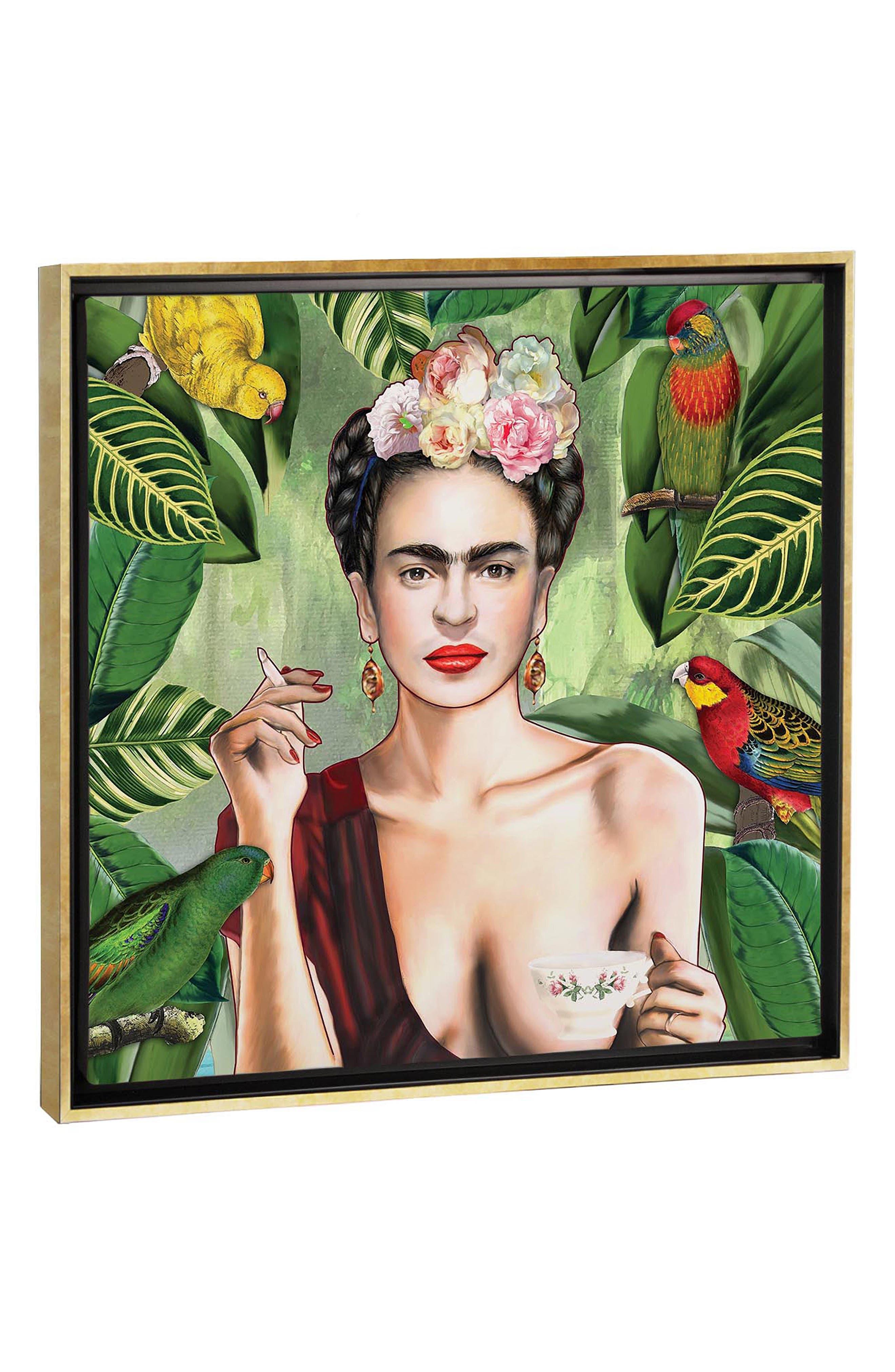ICANVAS Frida Con Amigos by Nettsch Giclée Print Canvas Art, Main, color, GREEN