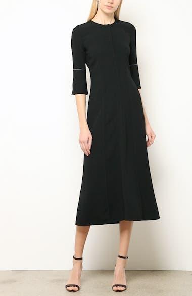 Contrast Stitch Crepe Dress, video thumbnail