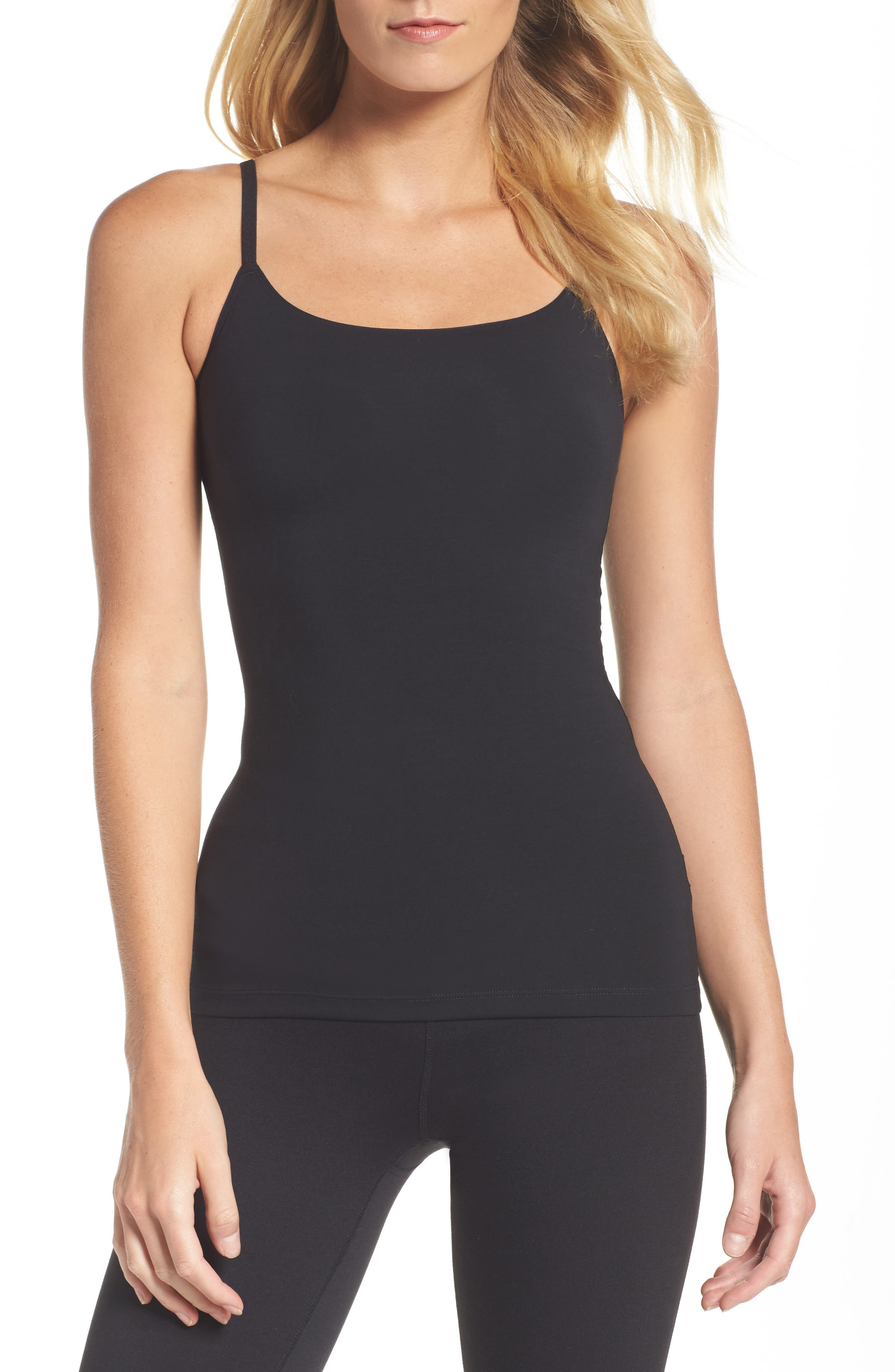 SPANX<SUP>®</SUP>, In & Out Camisole, Main thumbnail 1, color, VERY BLACK