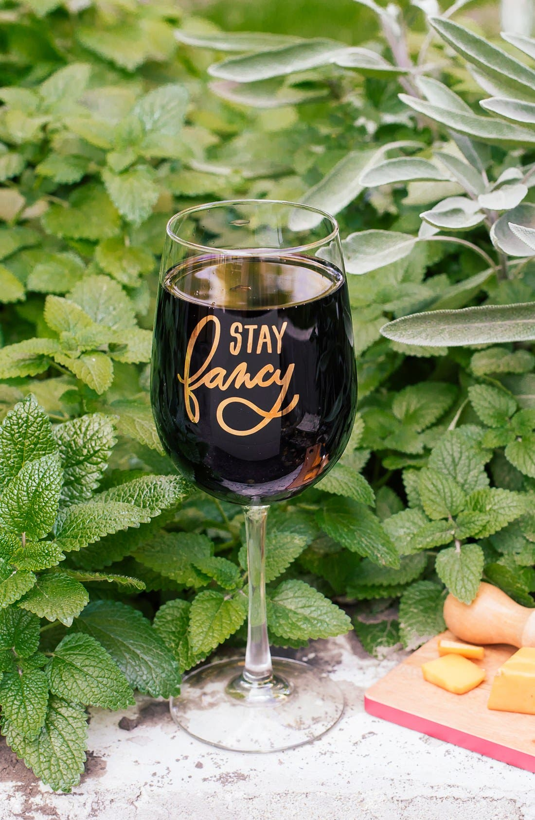 EASY, TIGER, 'Stay Fancy' Wine Glass, Alternate thumbnail 2, color, 710