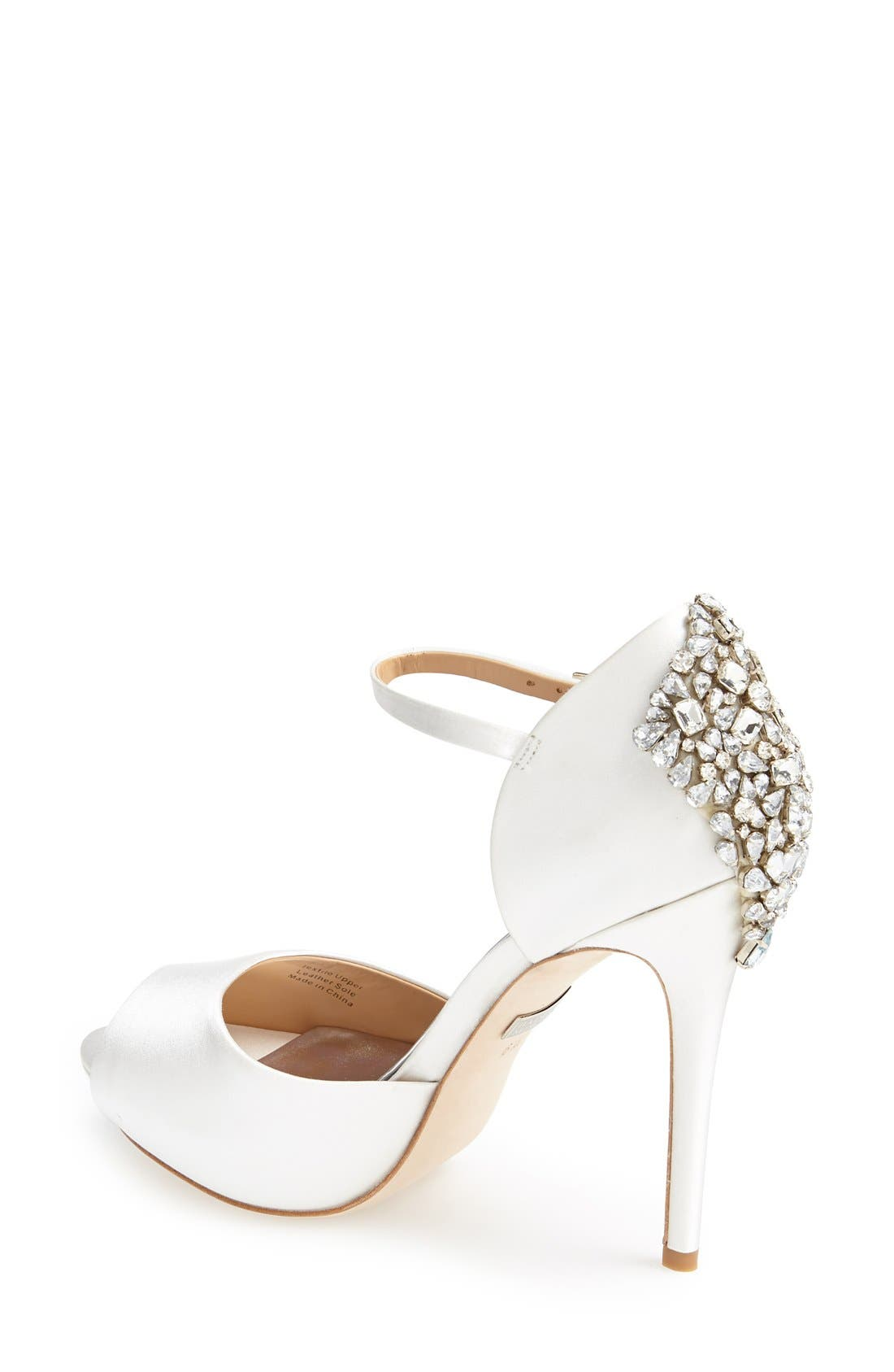 BADGLEY MISCHKA COLLECTION, Badgley Mischka 'Gene' Crystal Back Ankle Strap Pump, Alternate thumbnail 2, color, 142