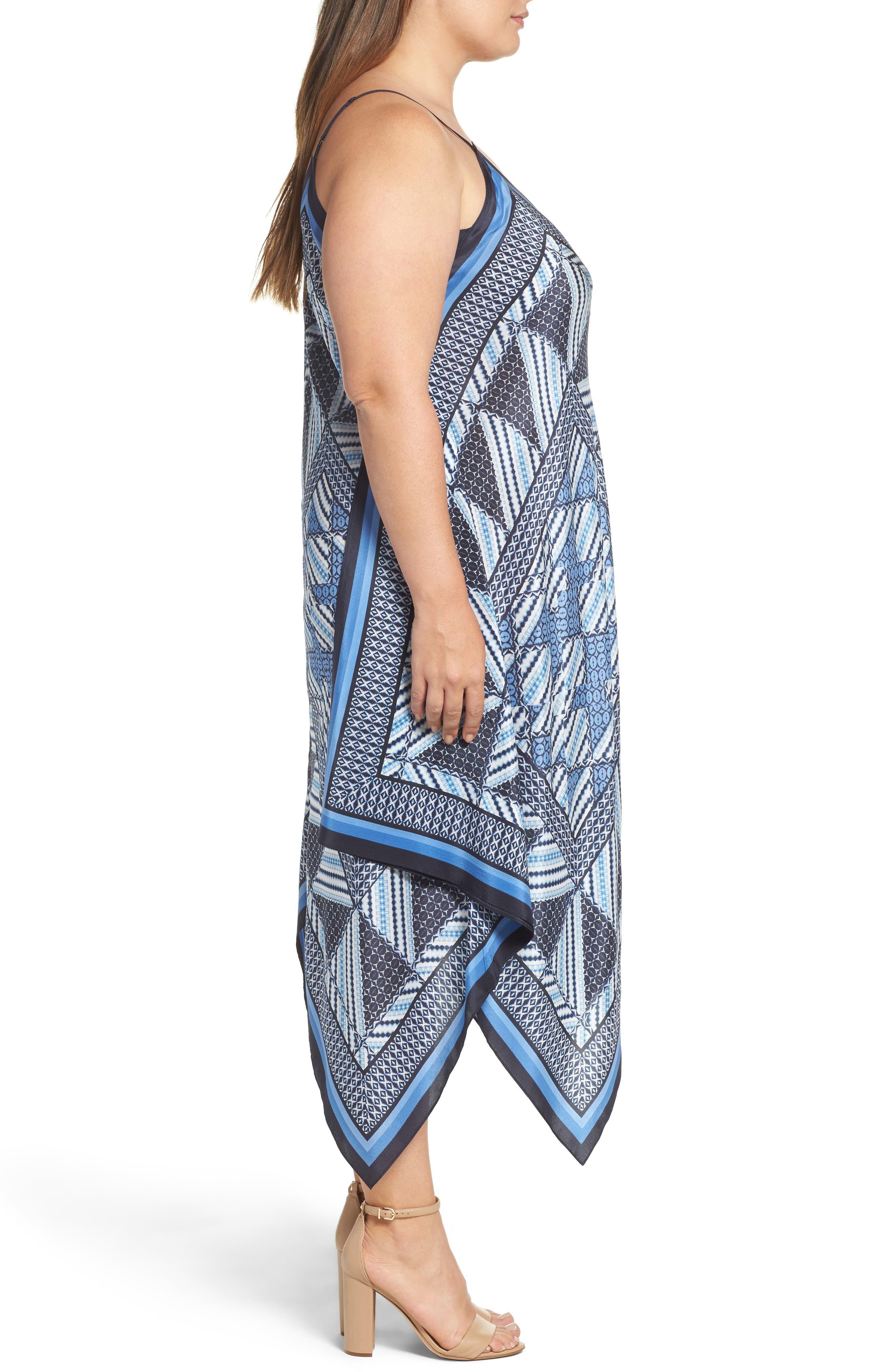 NIC+ZOE, Calypso Handkerchief Hem Sundress, Alternate thumbnail 3, color, 400