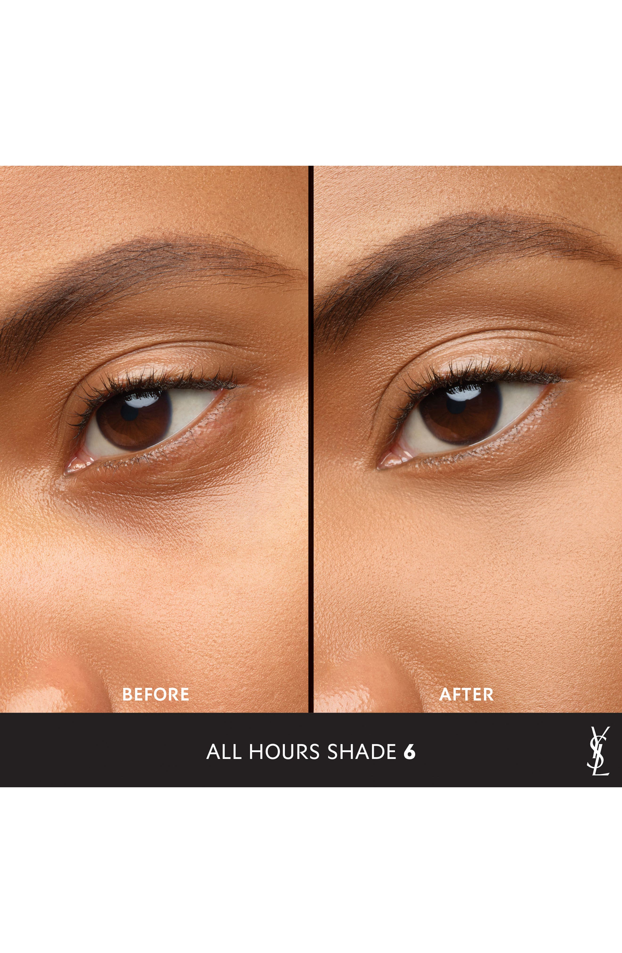 YVES SAINT LAURENT, All Hours Concealer, Alternate thumbnail 2, color, 6 TOFFEE