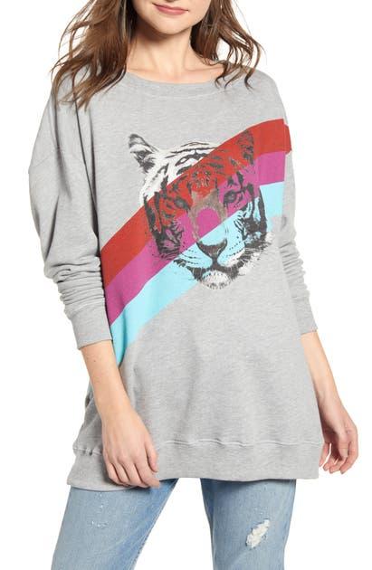 Wildfox T-shirts TIGER STRIPES ROADTRIP SWEATSHIRT