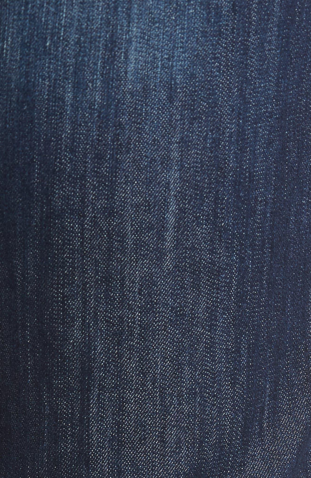 MAVI JEANS, Zach Straight Leg Jeans, Alternate thumbnail 6, color, DARK MAUI