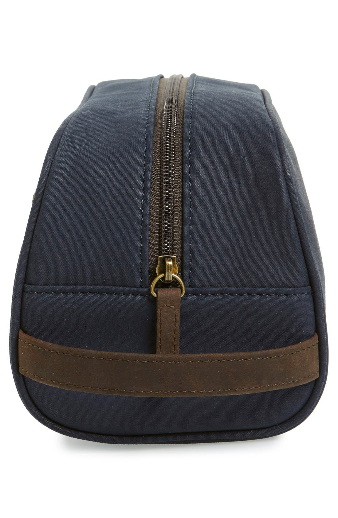 BARBOUR, Waxed Canvas Travel Kit, Alternate thumbnail 4, color, 410