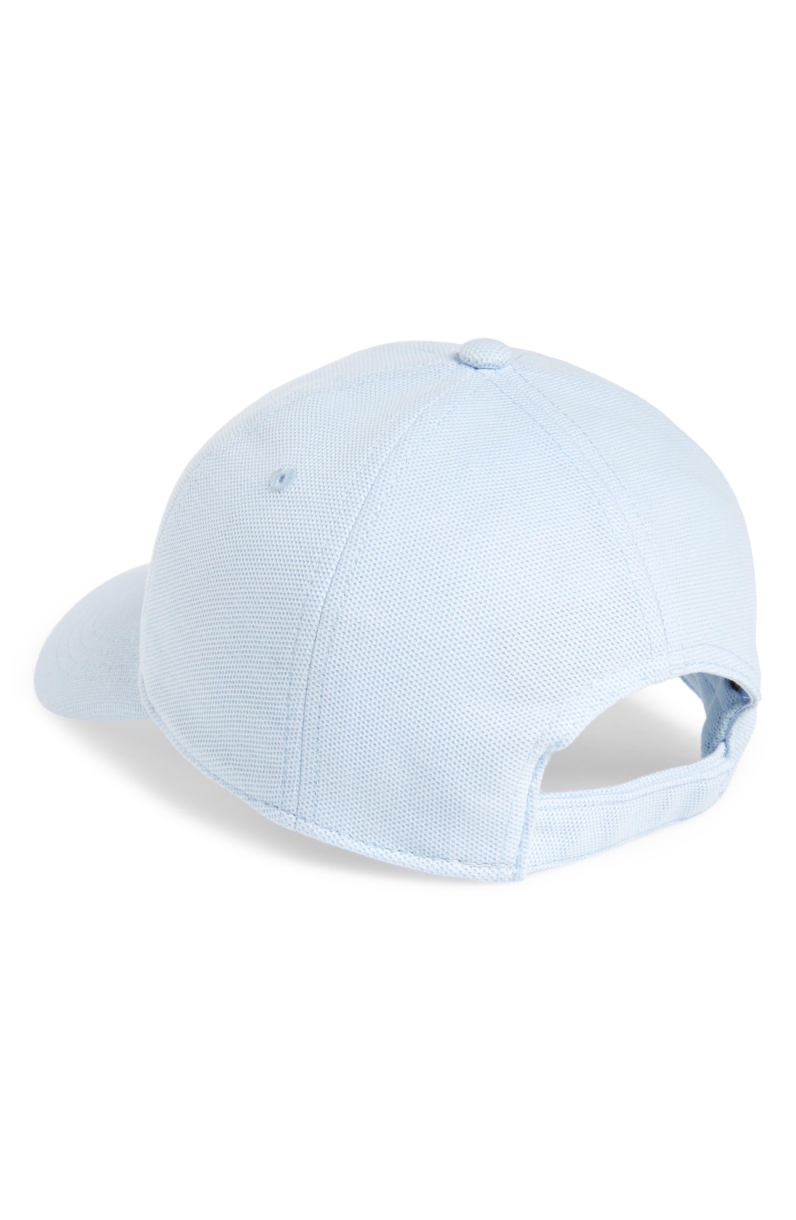 LACOSTE, Croc Cotton Baseball Cap, Alternate thumbnail 2, color, RILL