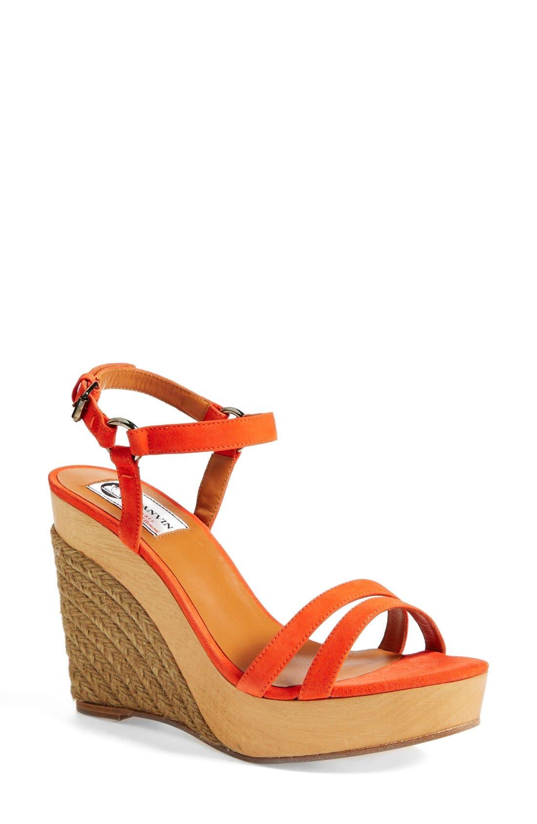 LANVIN Espadrille Wedge Sandal, Main, color, 800