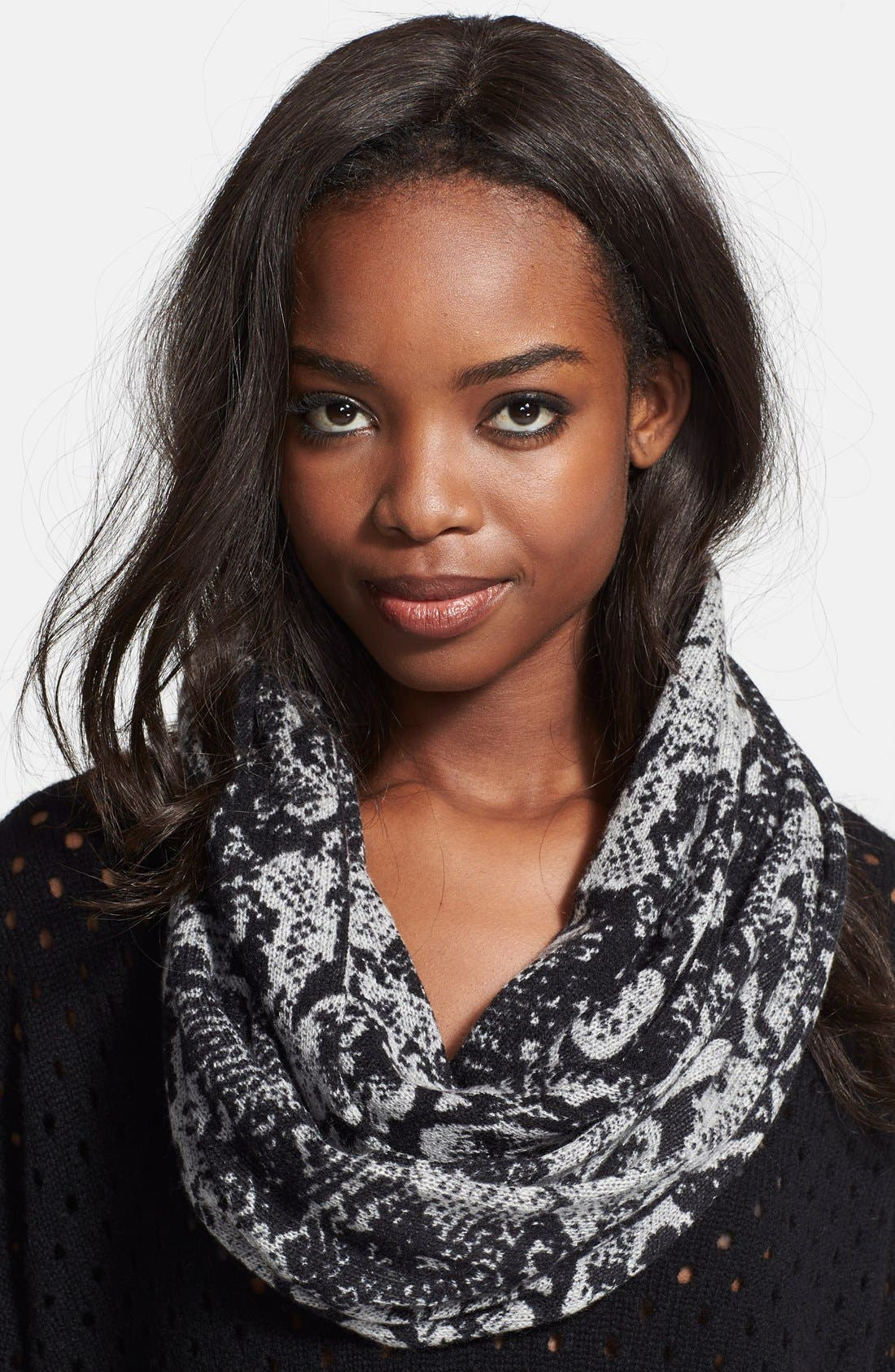 AUTUMN CASHMERE, Snake Print Cashmere Snood, Main thumbnail 1, color, 094