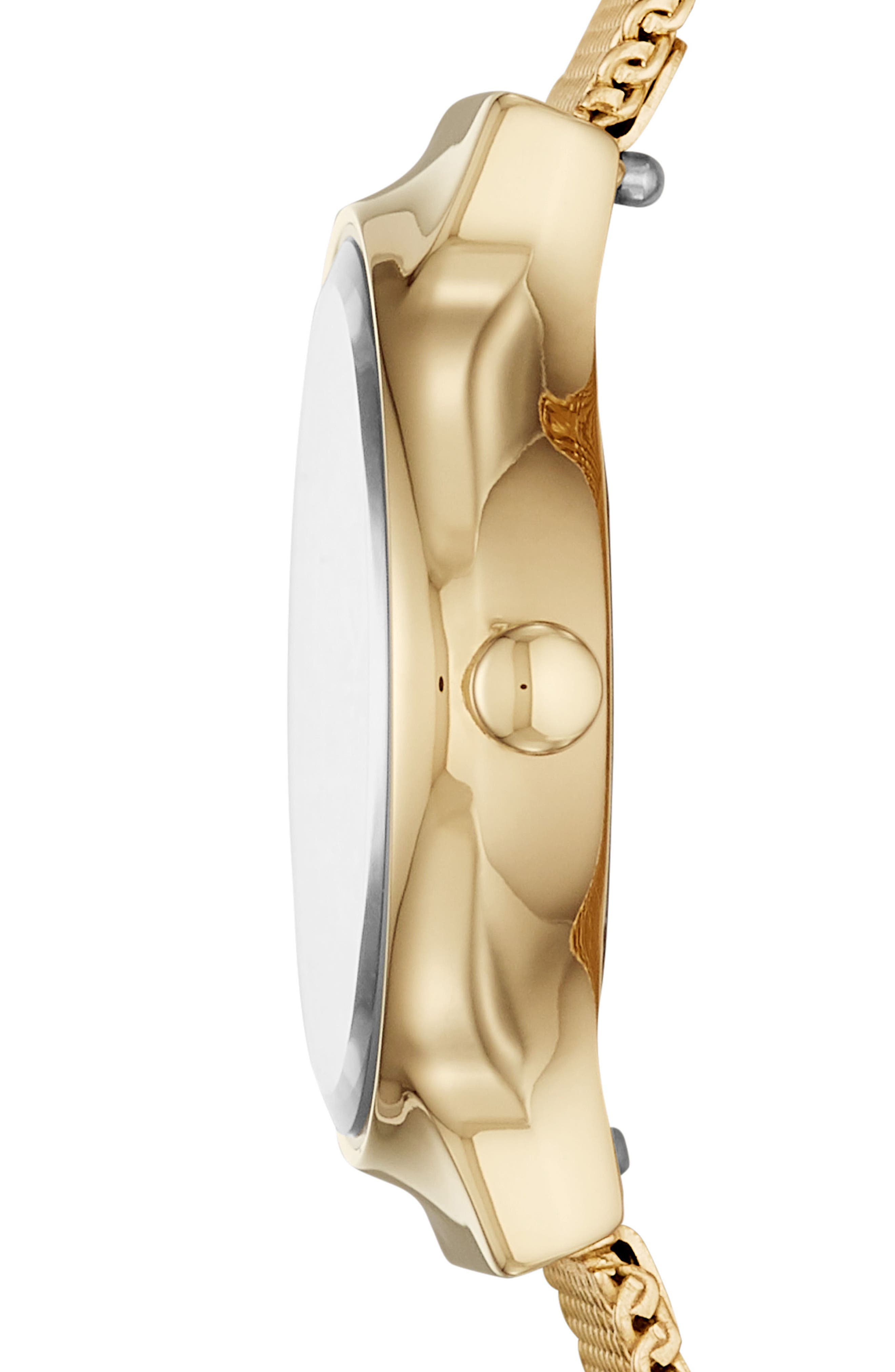 SKAGEN, Freja Bracelet Watch, 26mm, Alternate thumbnail 2, color, GOLD/ SILVER/ GOLD