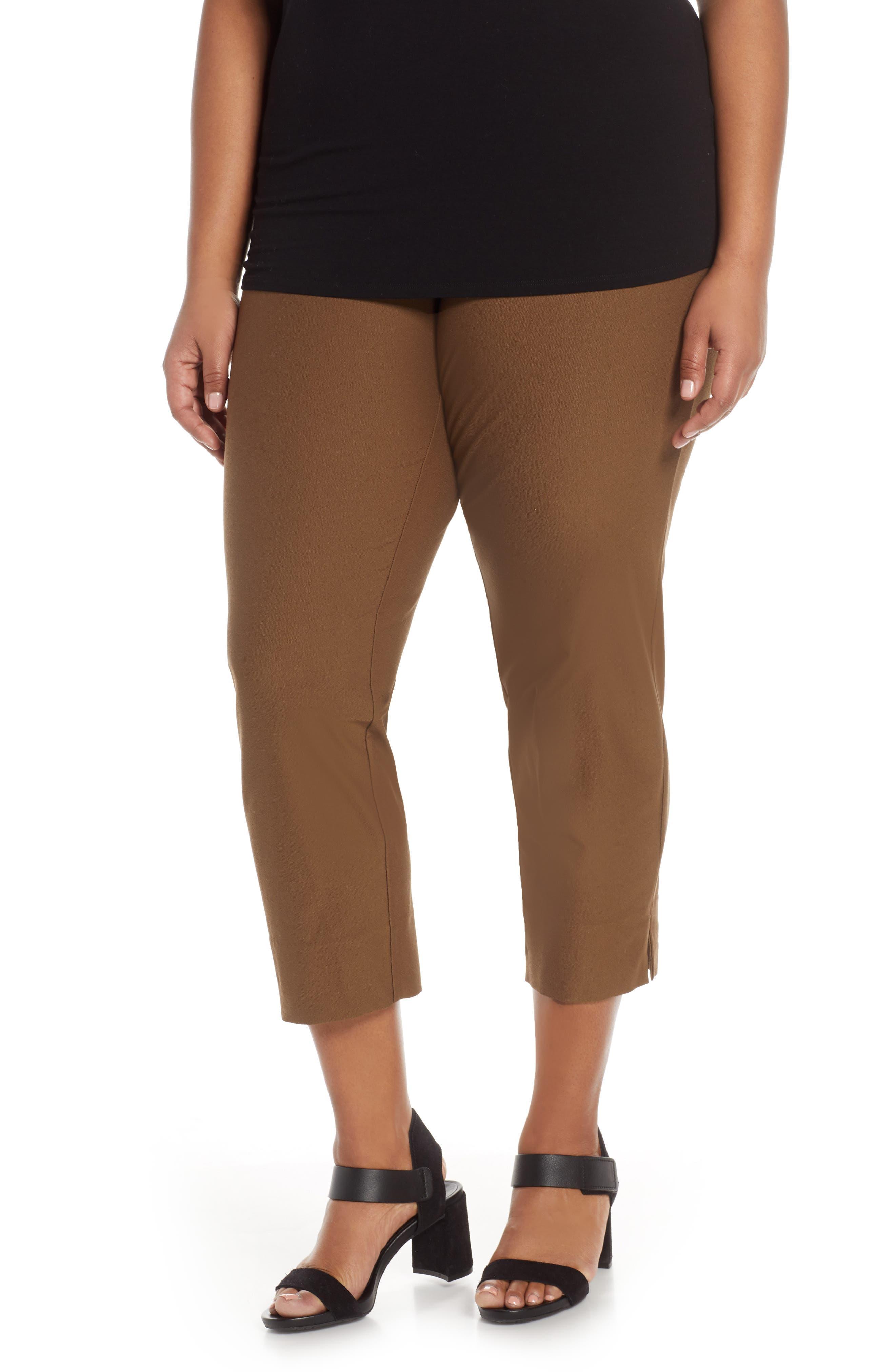 7ea0fbcfdfc Plus Size Eileen Fisher Slim Washable Stretch Crepe Pants