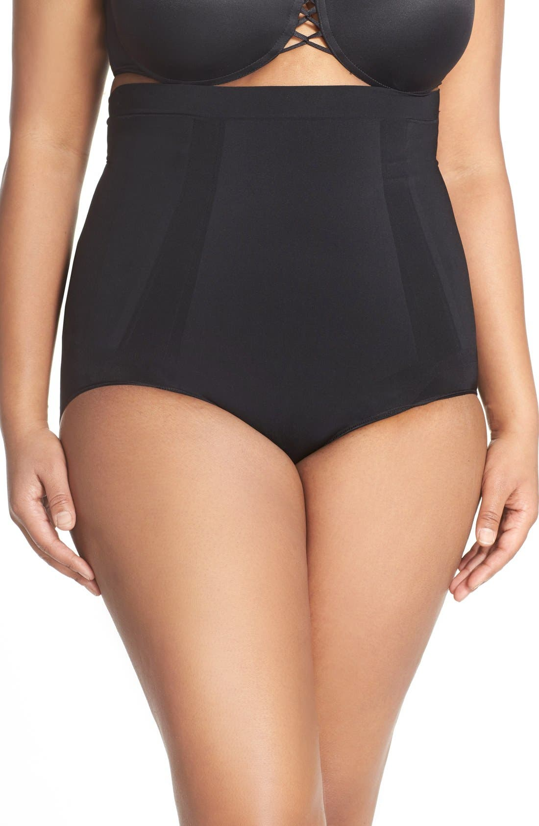 SPANX<SUP>®</SUP> OnCore High Waist Briefs, Main, color, VERY BLACK
