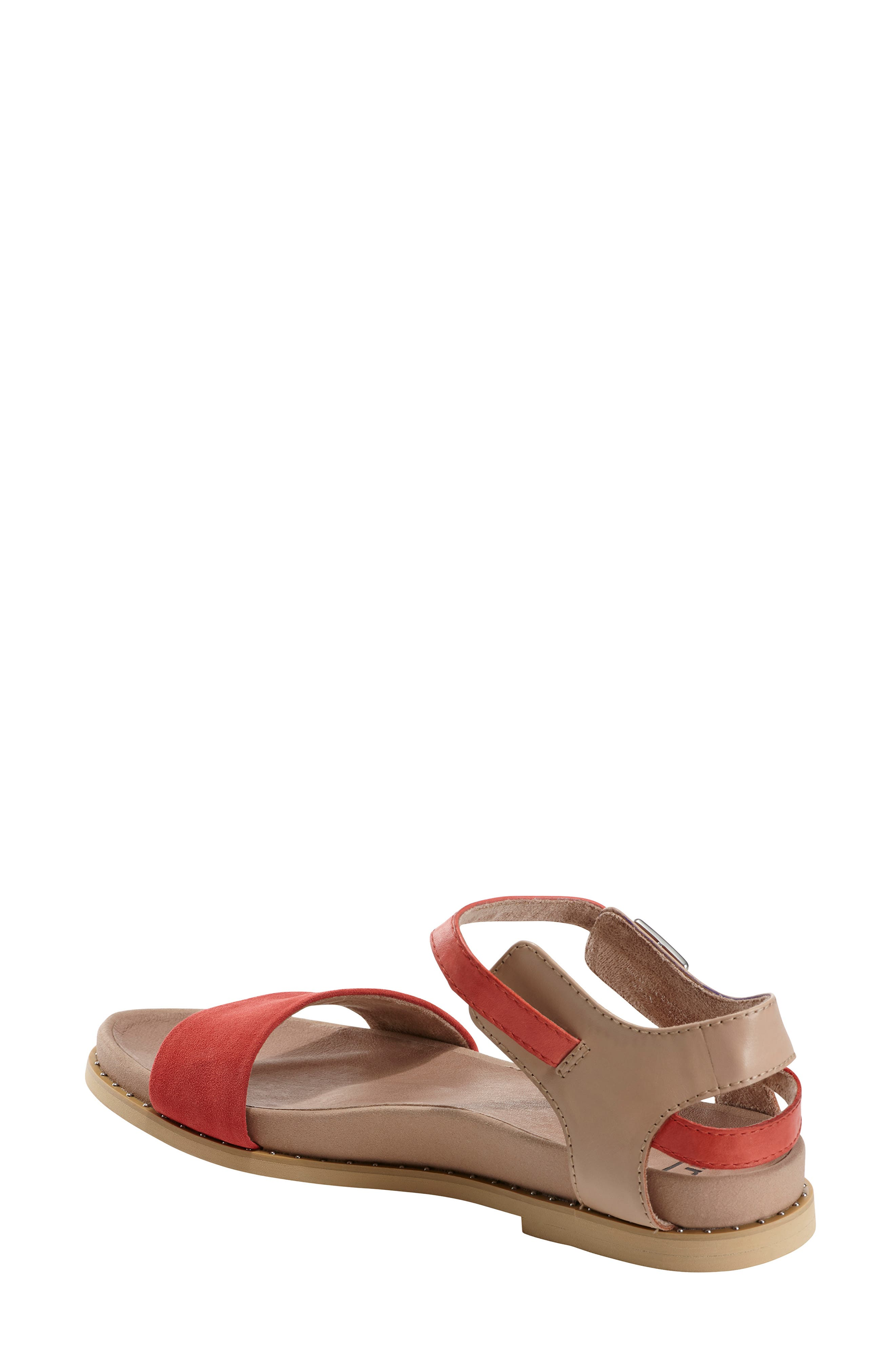 EARTH<SUP>®</SUP>, Cameo Sandal, Alternate thumbnail 2, color, BRIGHT CORAL SUEDE