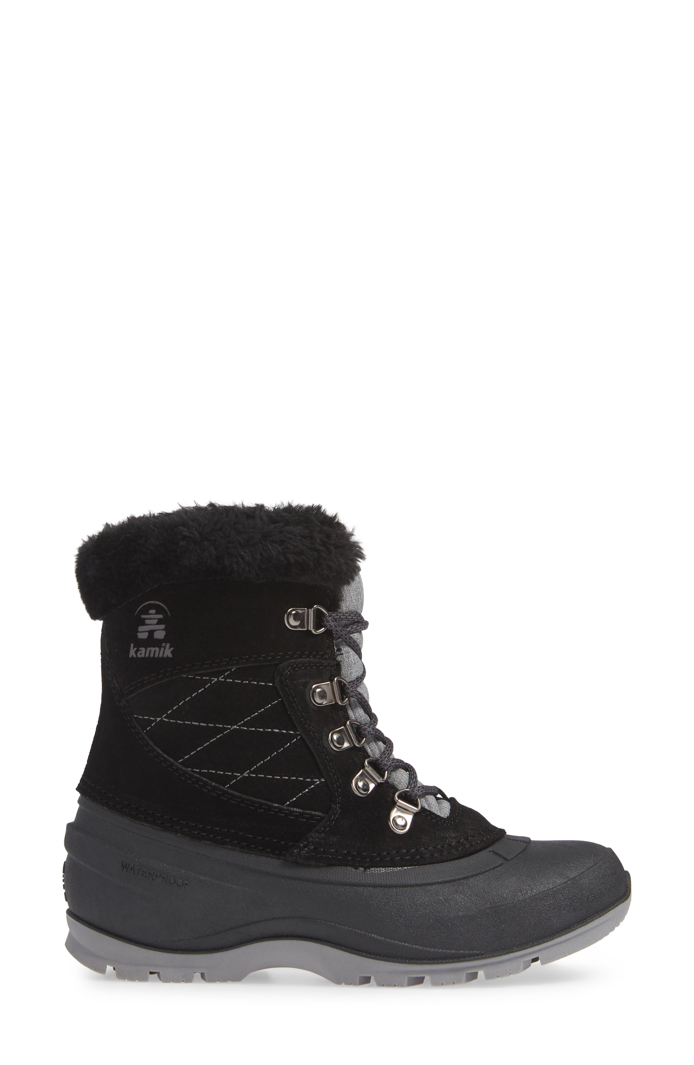 KAMIK, Snovalley1 Waterproof Thinsulate<sup>®</sup> Insulated Snow Boot, Alternate thumbnail 3, color, 001