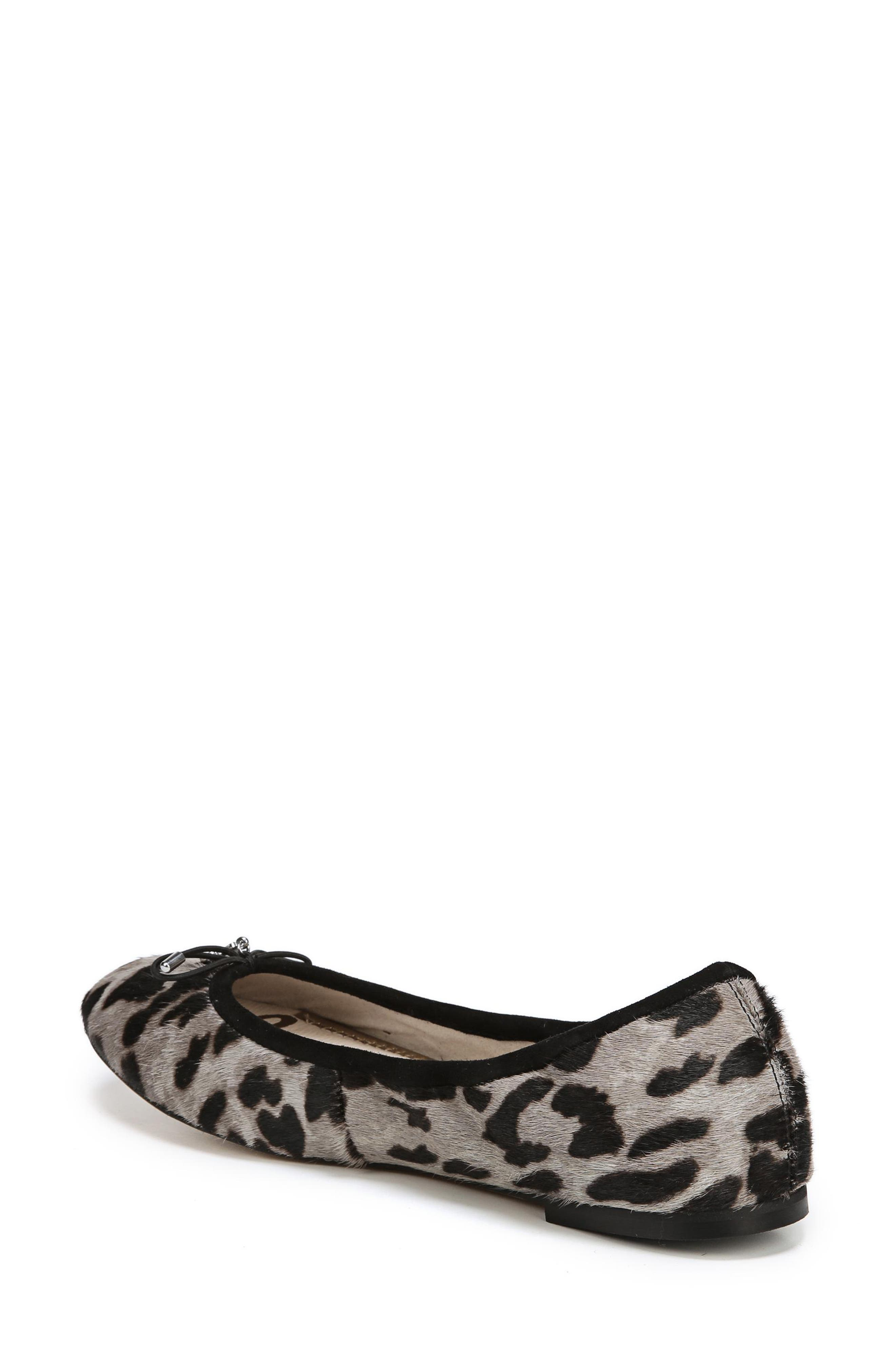 SAM EDELMAN, Felicia Flat, Alternate thumbnail 2, color, CLOUDED LEOPARD BRAHMA HAIR